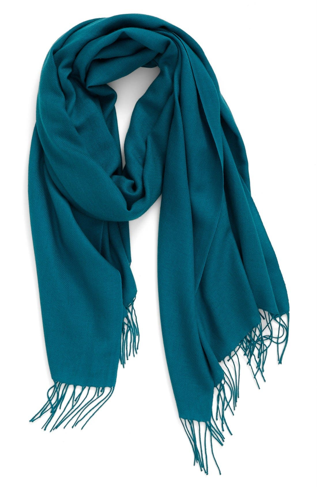 Tissue Weight Wool & Cashmere Scarf,                             Main thumbnail 37, color,