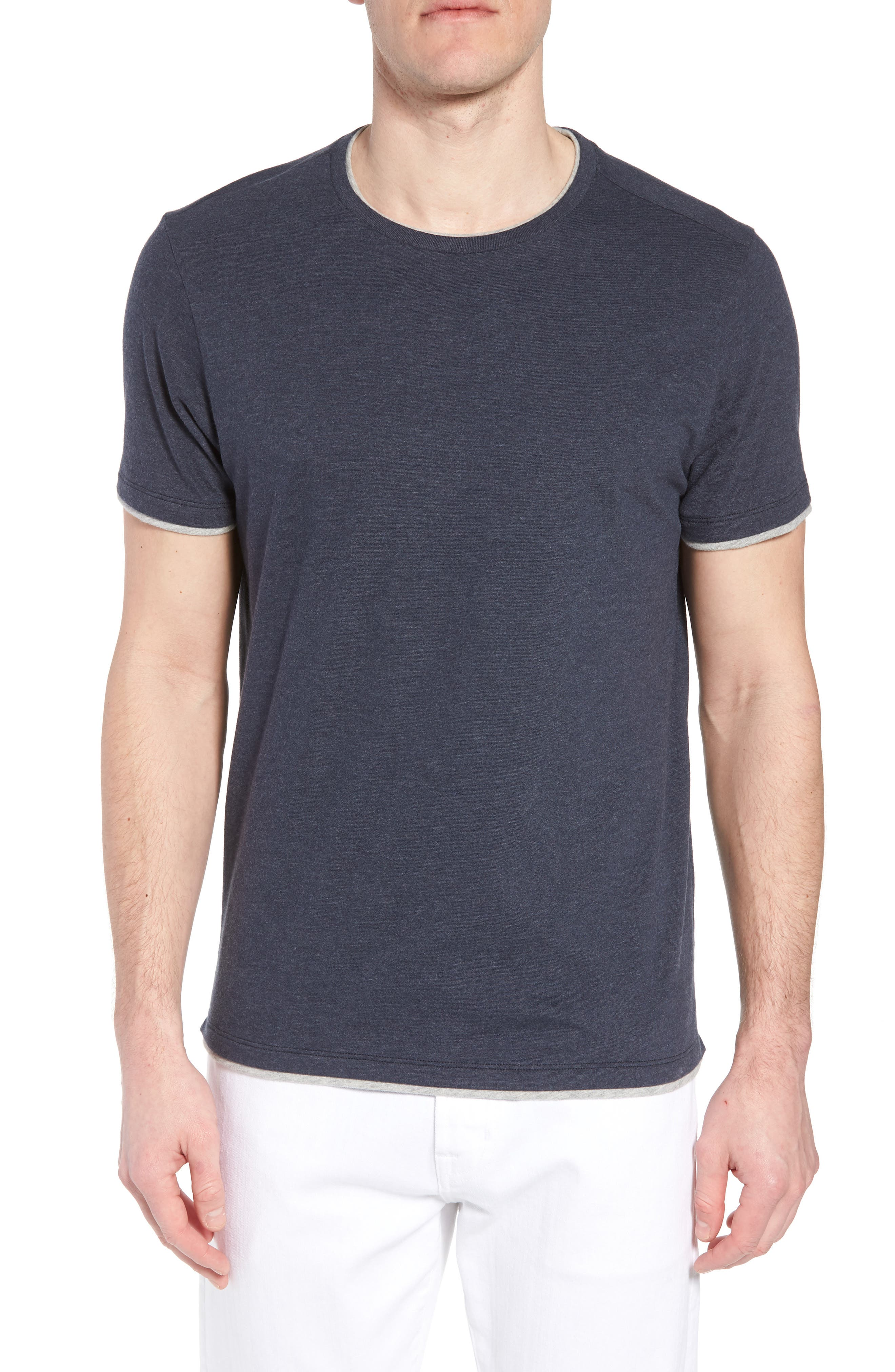 Halifax Crewneck T-Shirt,                         Main,                         color, NAVY