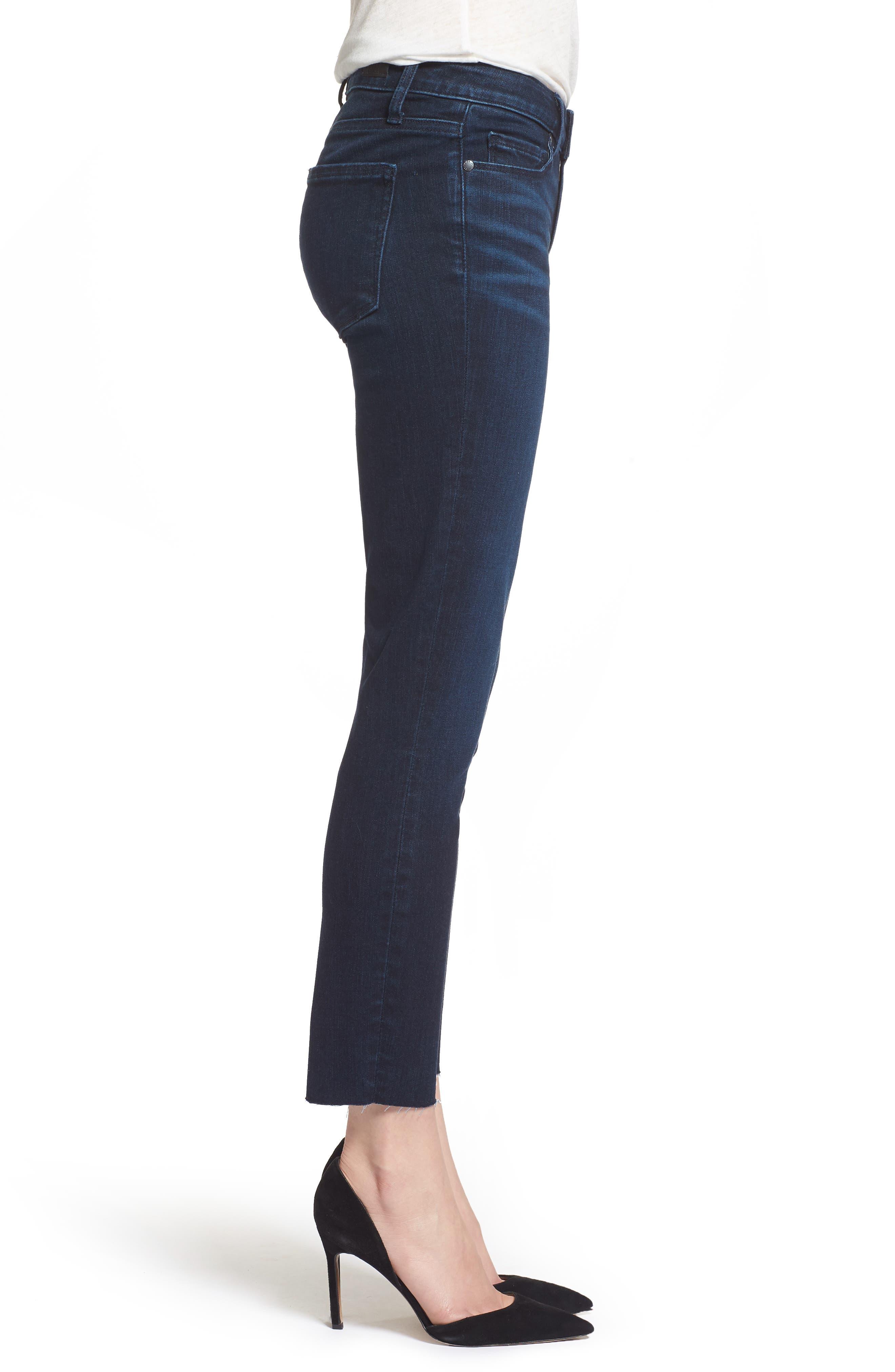 Transcend Vintage - Skyline Crop Skinny Jeans,                             Alternate thumbnail 3, color,                             LUELLA