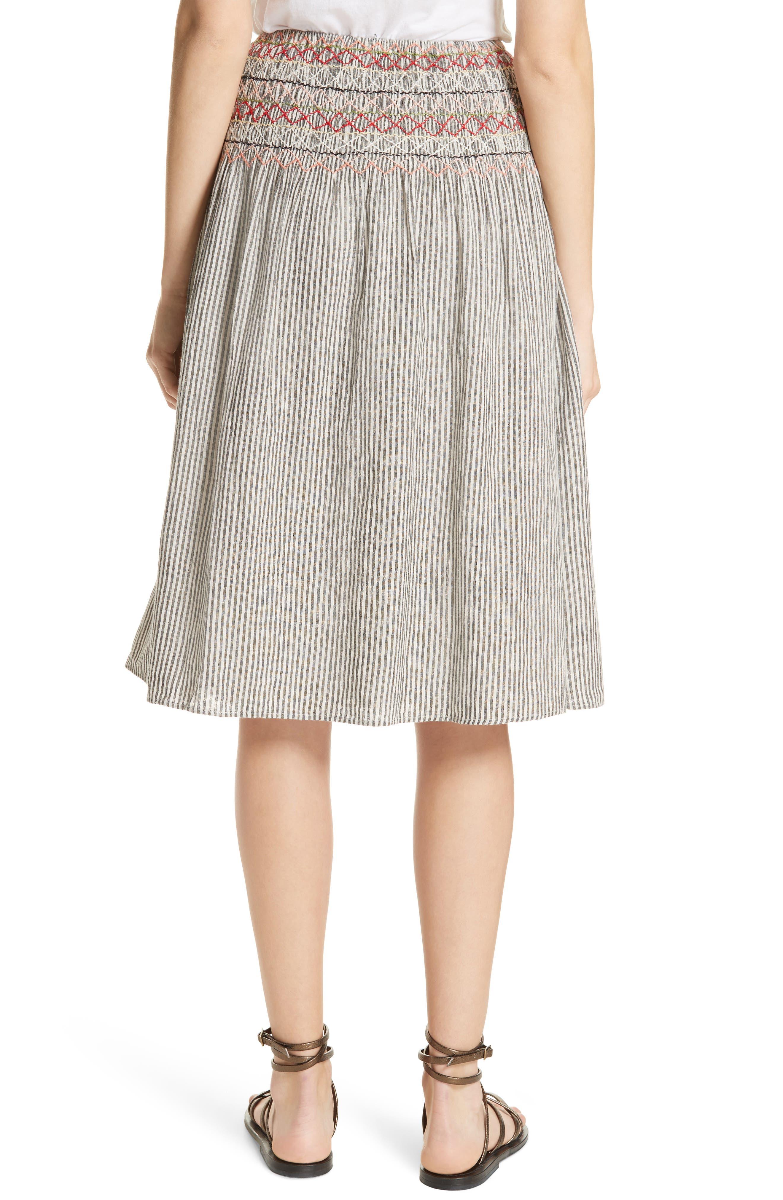 The Vista Cotton & Linen Skirt,                             Alternate thumbnail 2, color,