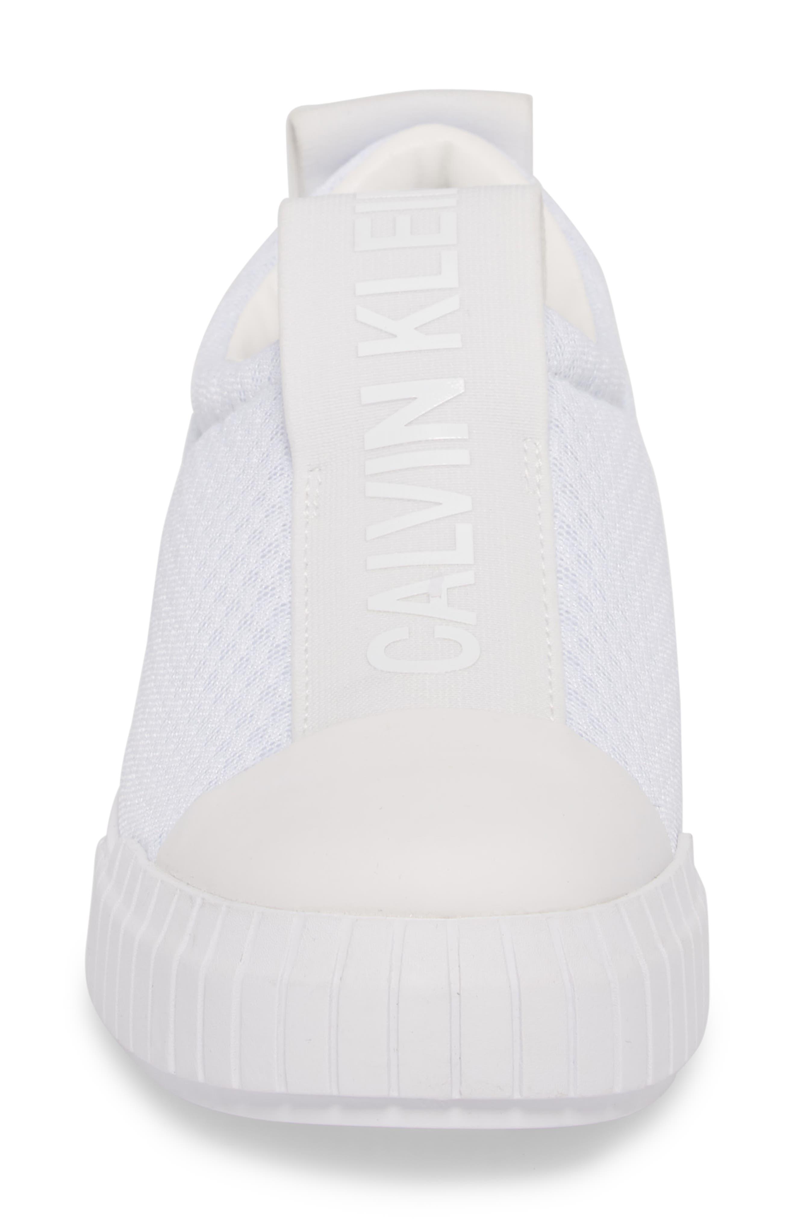Bamina Slip-On Sneaker,                             Alternate thumbnail 4, color,                             WHITE