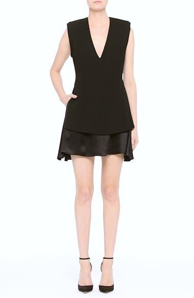Mixed Media V-Neck Dress, video thumbnail