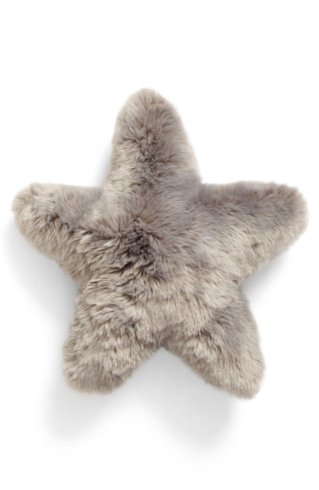 Cuddle Up Faux Fur Star Pillow,                             Main thumbnail 3, color,