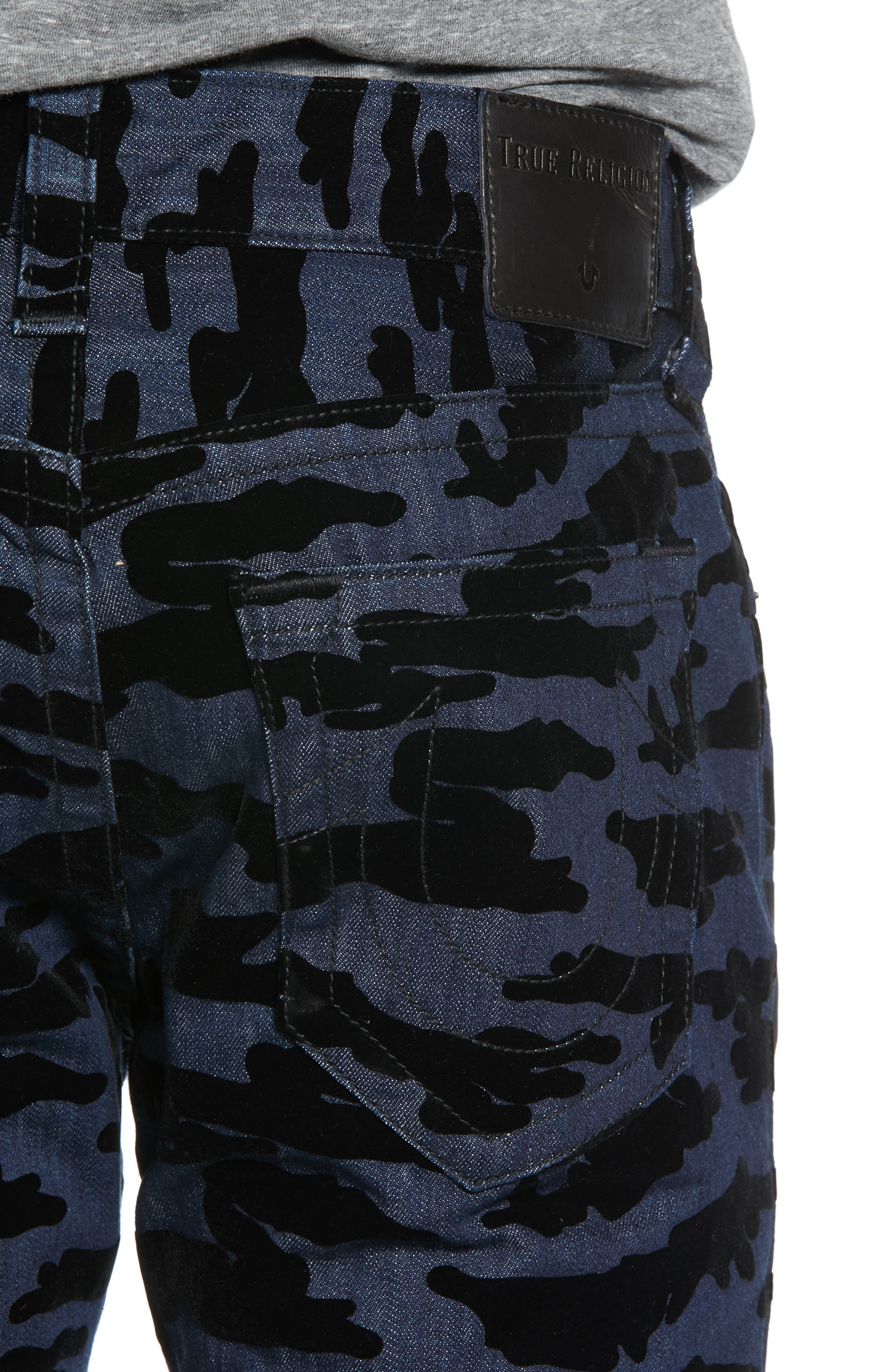 Rocco Camo Skinny Fit Jeans,                             Alternate thumbnail 4, color,                             2S BODY RINSE