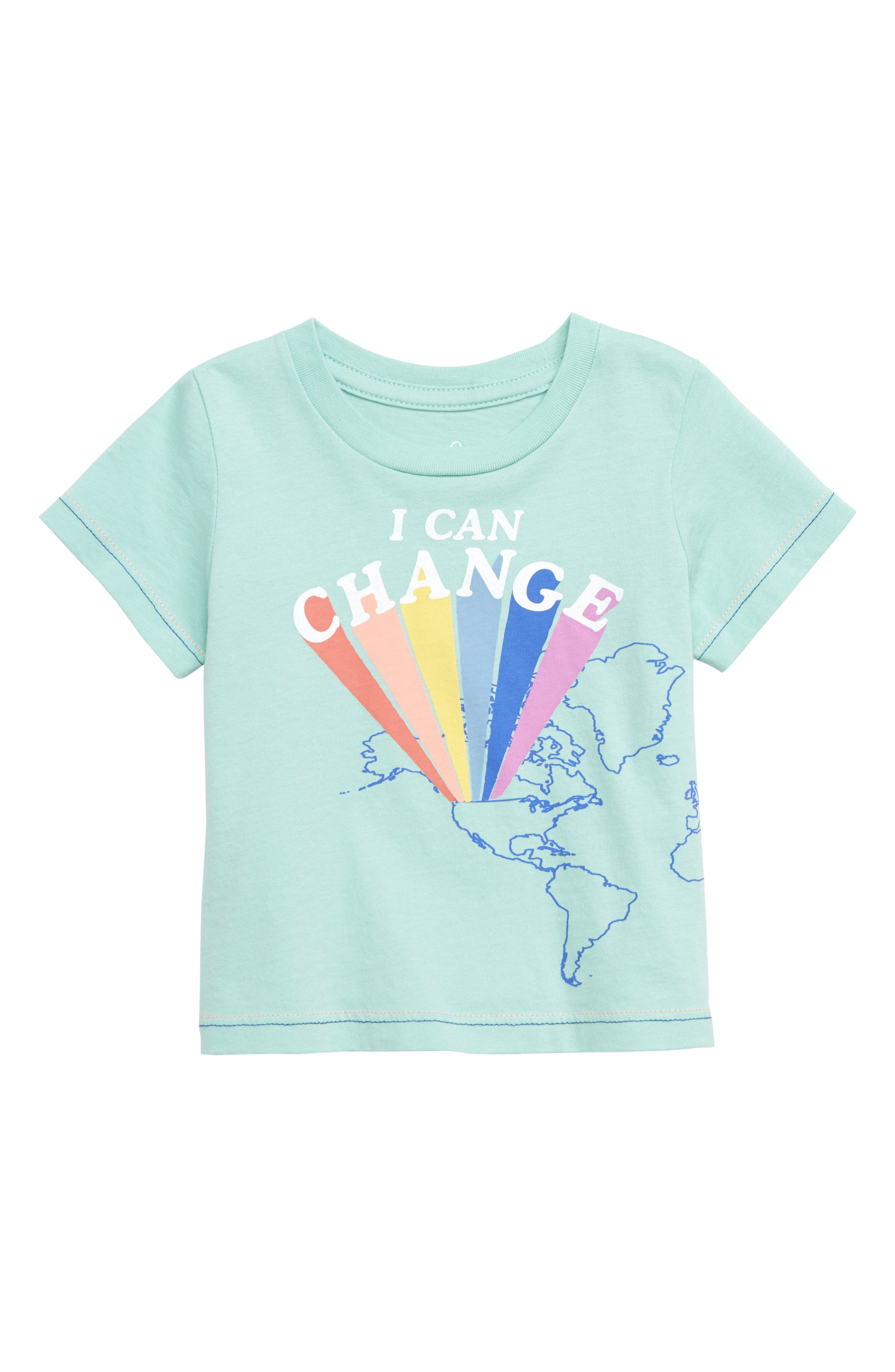 PEEK ESSENTIALS Peek Change the World Graphic T-Shirt, Main, color, BLUE