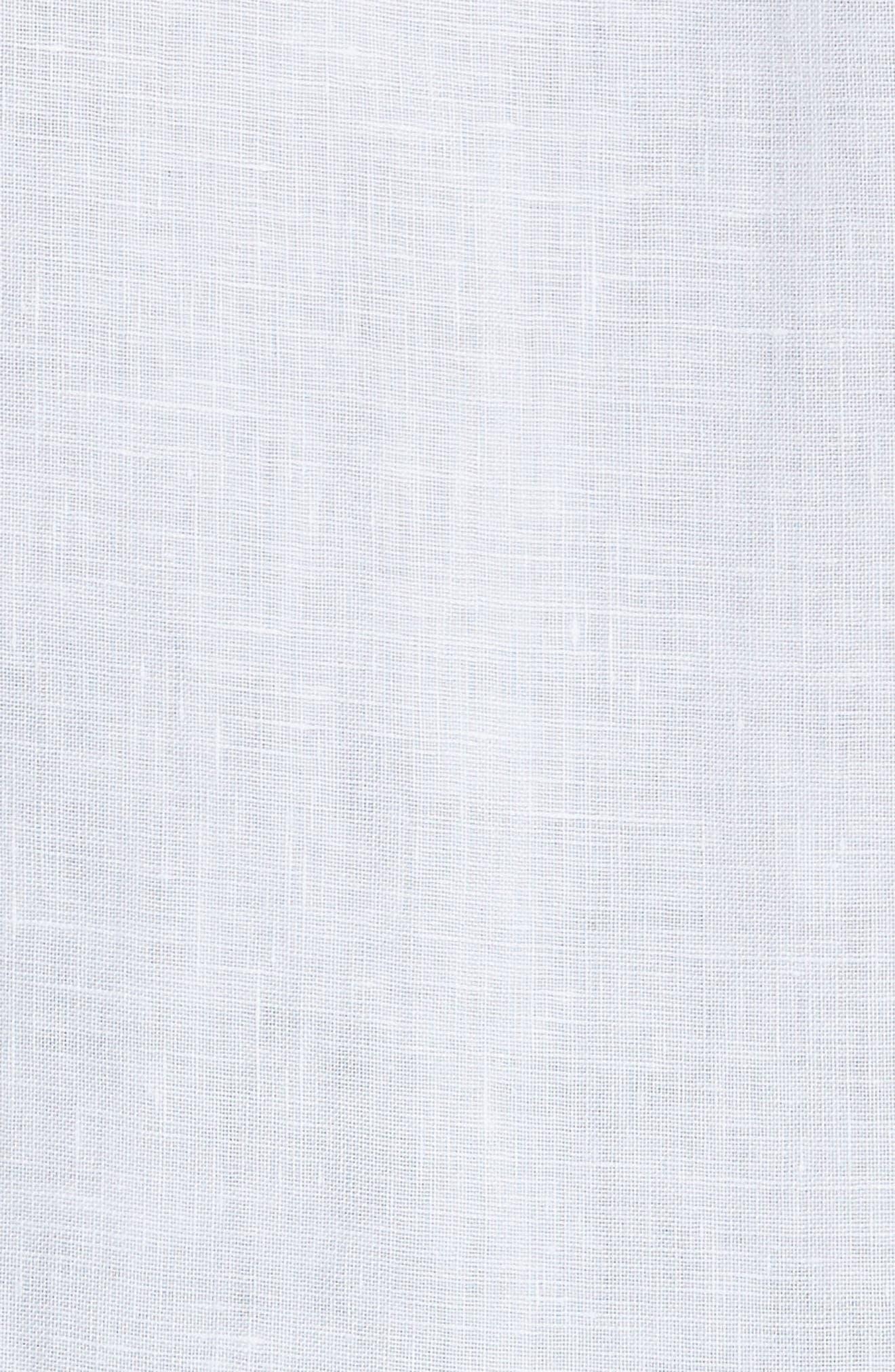 Regular Fit Linen Sport Shirt,                             Alternate thumbnail 5, color,                             100