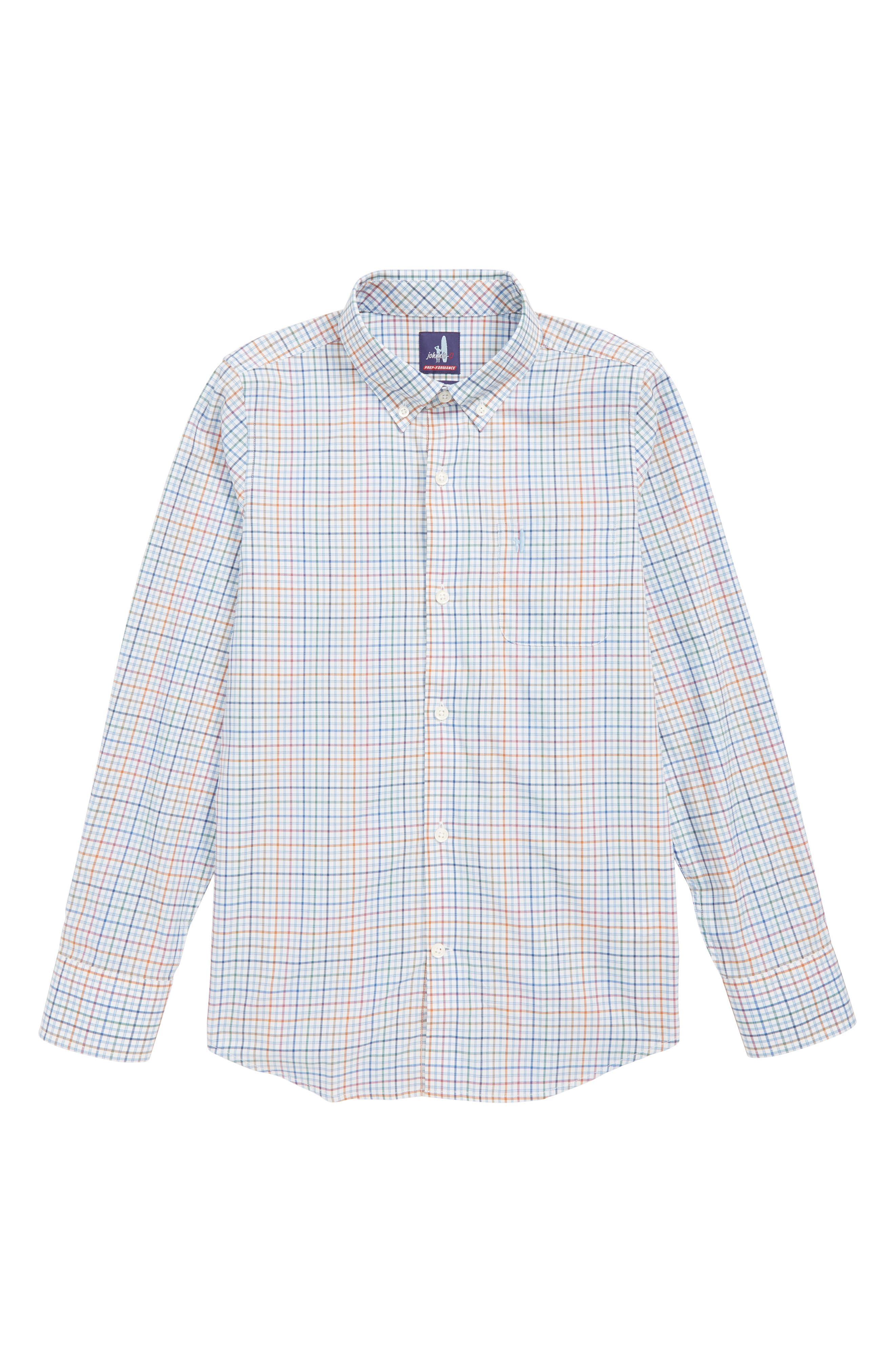 Chester Button Down Shirt,                             Main thumbnail 1, color,                             GULF BLUE