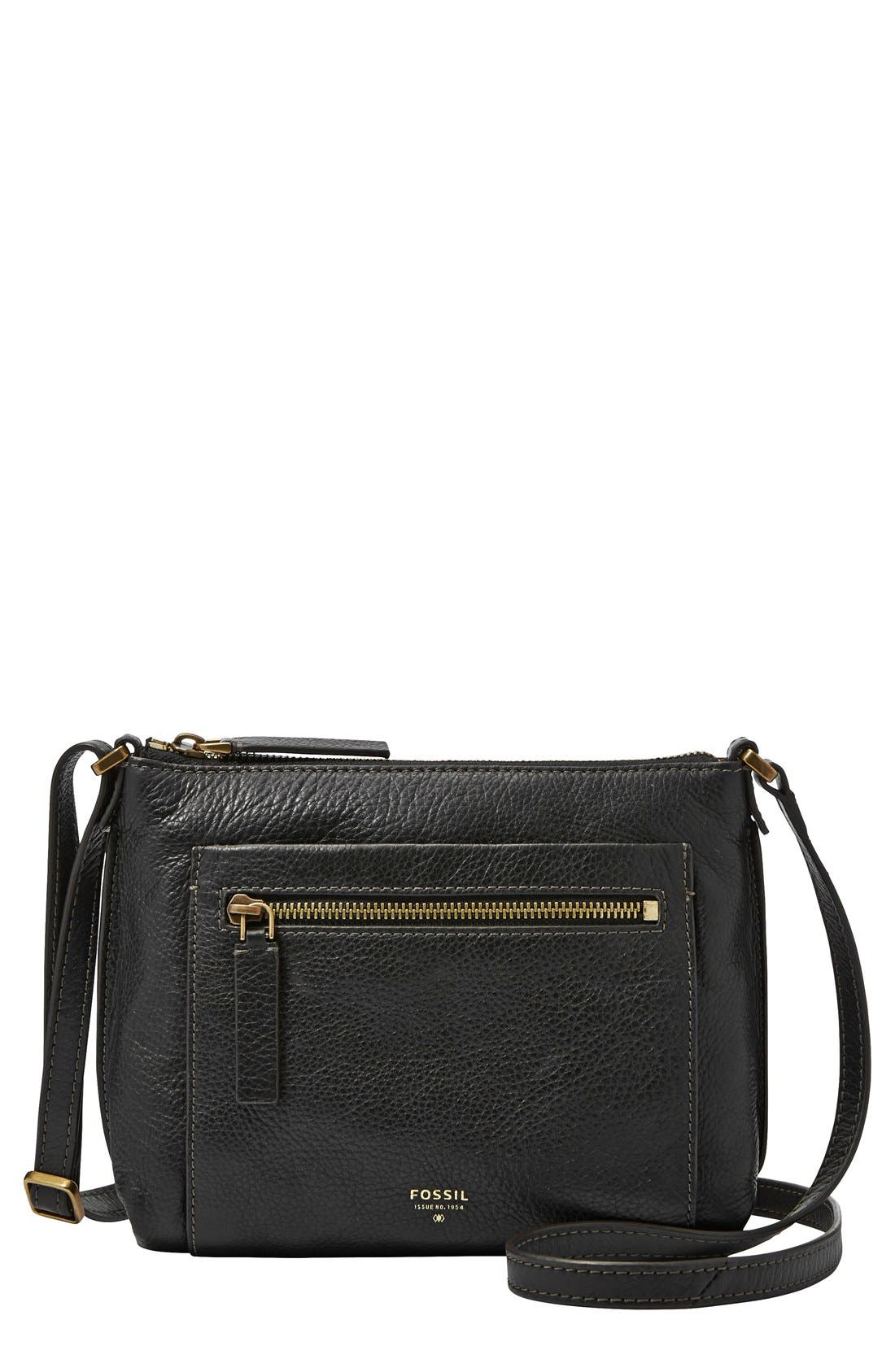 'Vickery' Leather Crossbody Bag,                         Main,                         color, 001