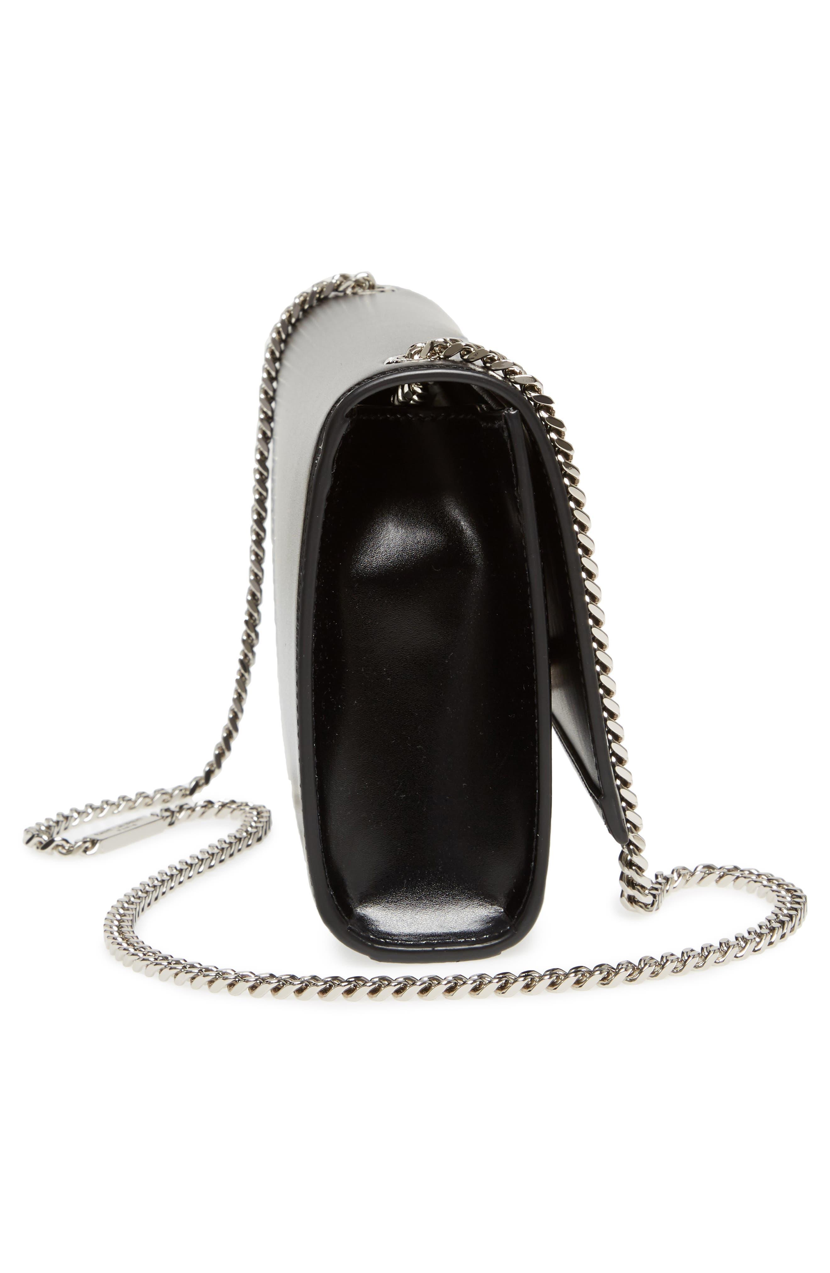Medium Kate Calfskin Leather Crossbody Bag,                             Alternate thumbnail 5, color,                             001