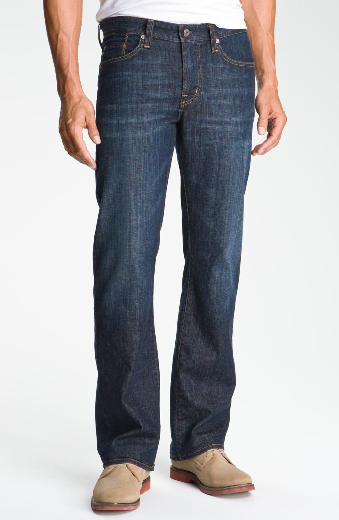 Protégé Straight Leg Jeans,                             Main thumbnail 1, color,                             HUNTS WASH