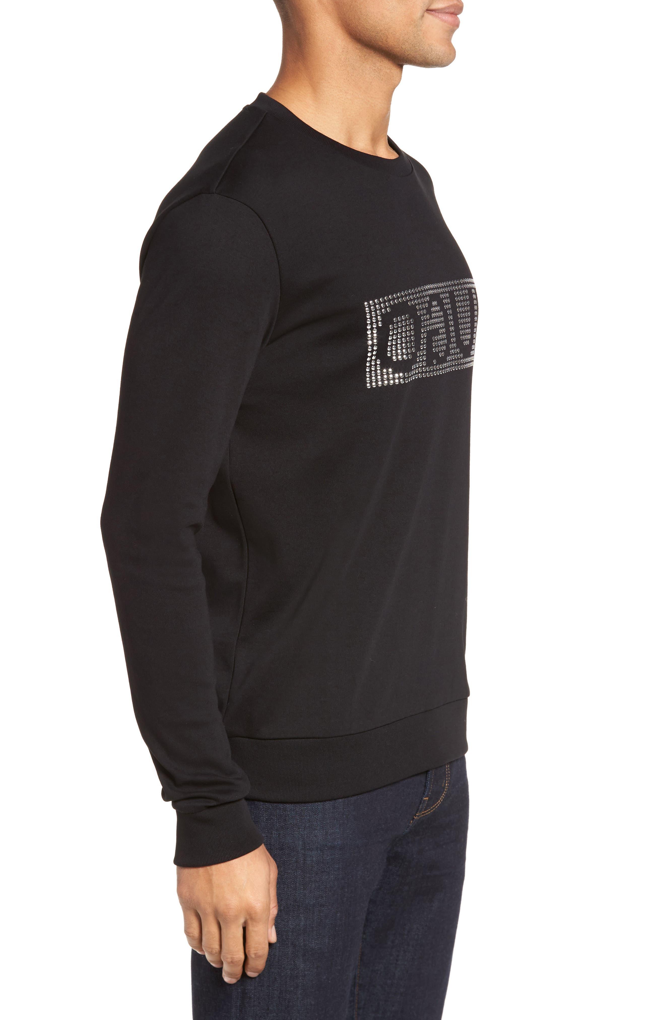 Dicagolo Logo Sweatshirt,                             Alternate thumbnail 3, color,                             001