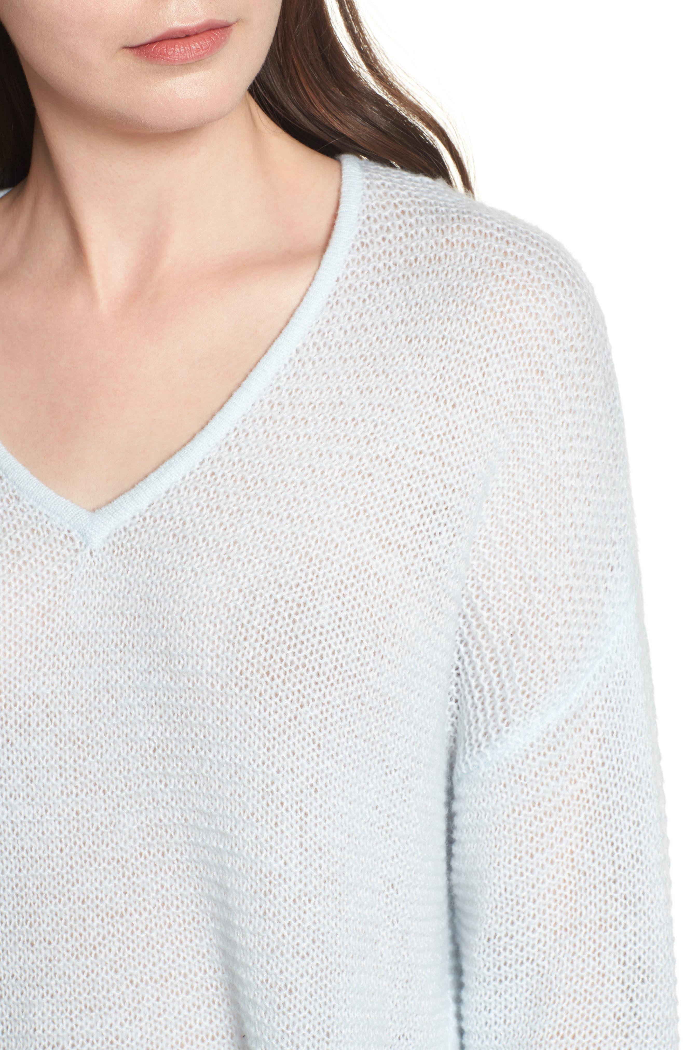 Double V Sweater,                             Alternate thumbnail 4, color,                             450