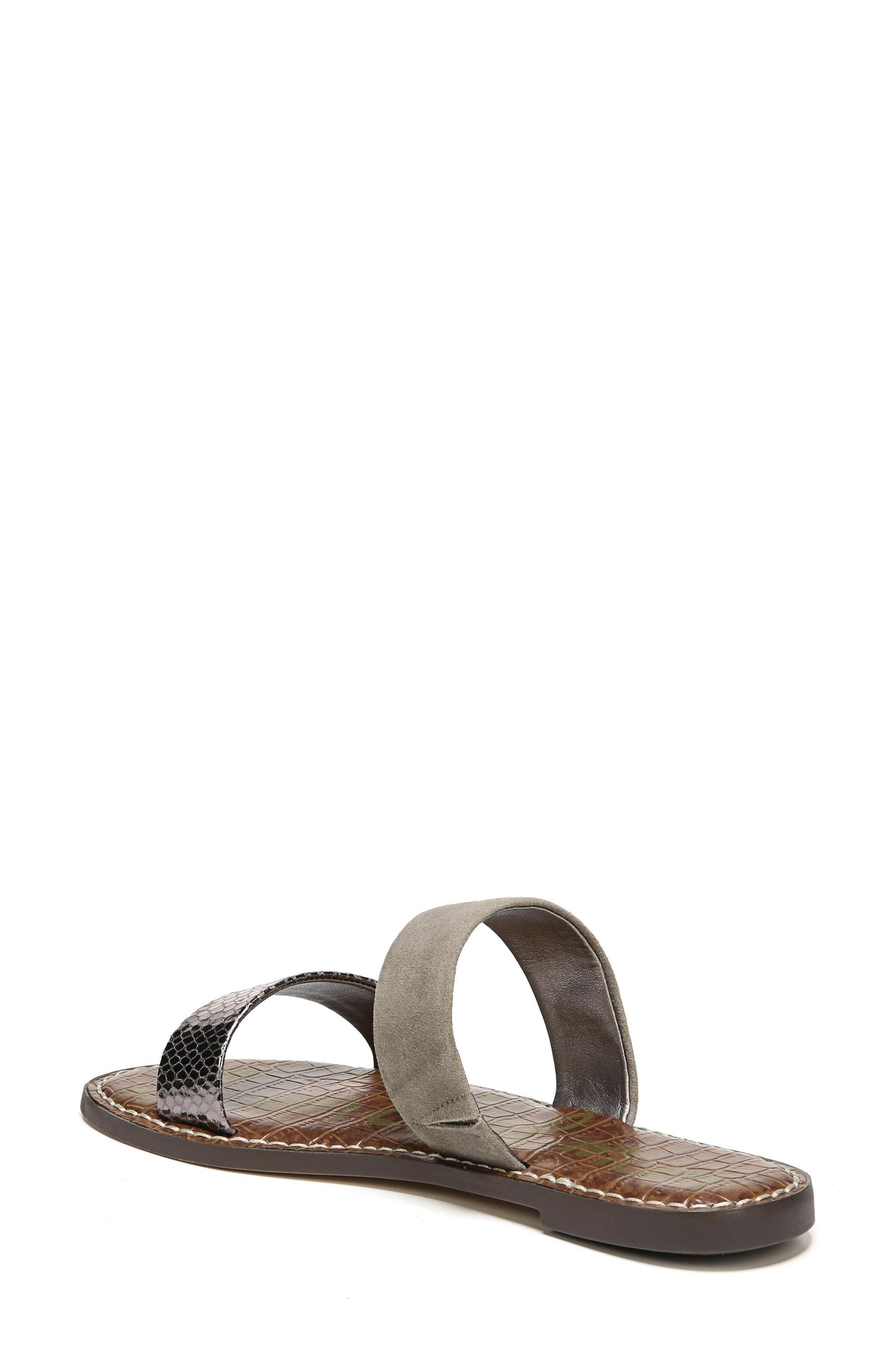 Gala Two Strap Slide Sandal,                             Alternate thumbnail 2, color,                             PEWTER/ PUTTY