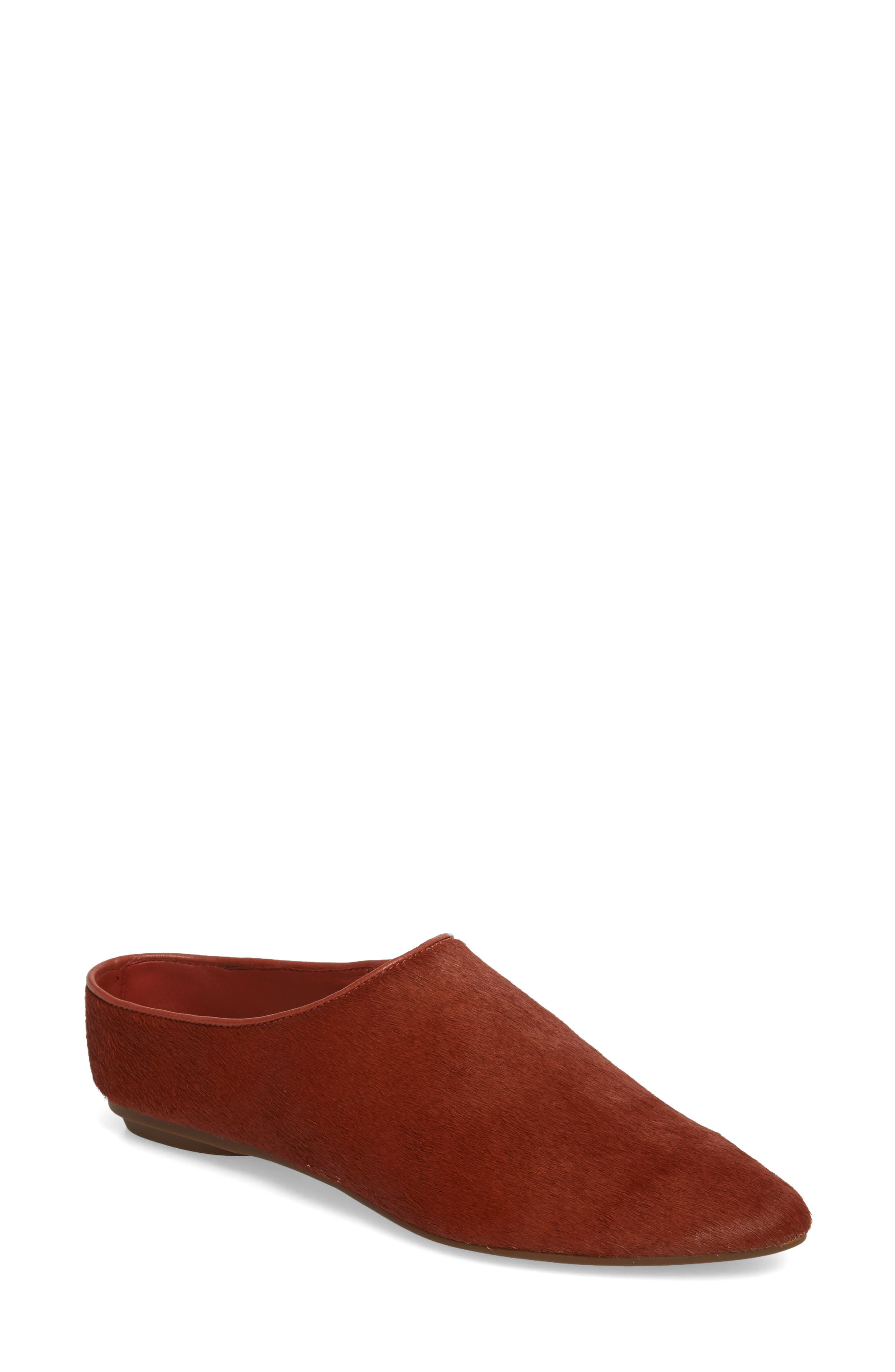 Elene Genuine Calf Hair Flat,                             Main thumbnail 2, color,