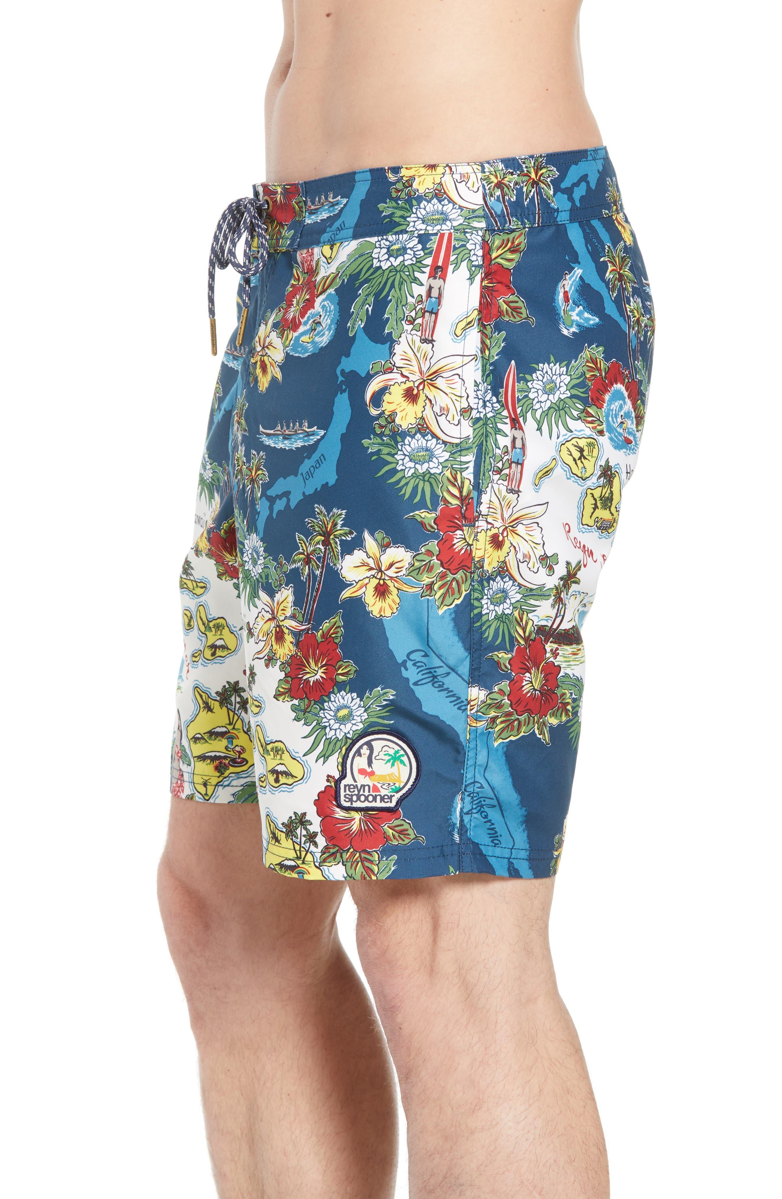 Status Oceanic Regular Fit Board Shorts,                             Alternate thumbnail 3, color,                             BLUE