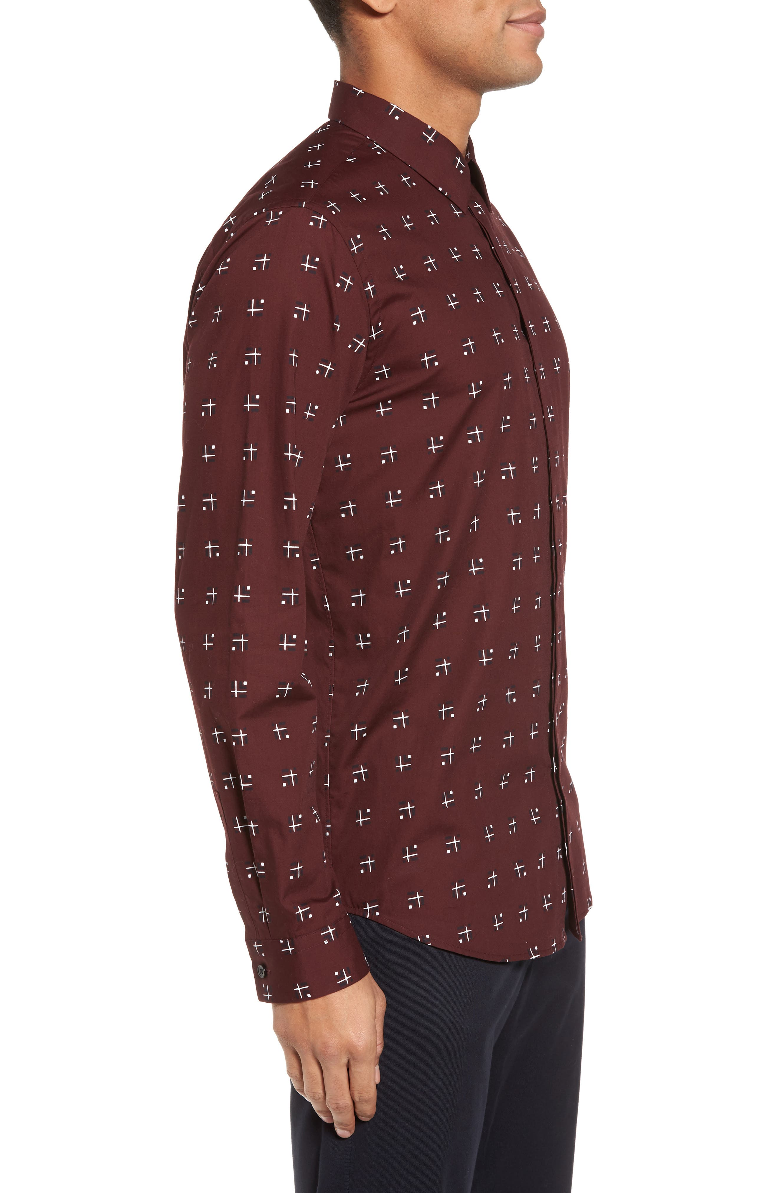 Levy Cross Box Regular Fit Sport Shirt,                             Alternate thumbnail 6, color,