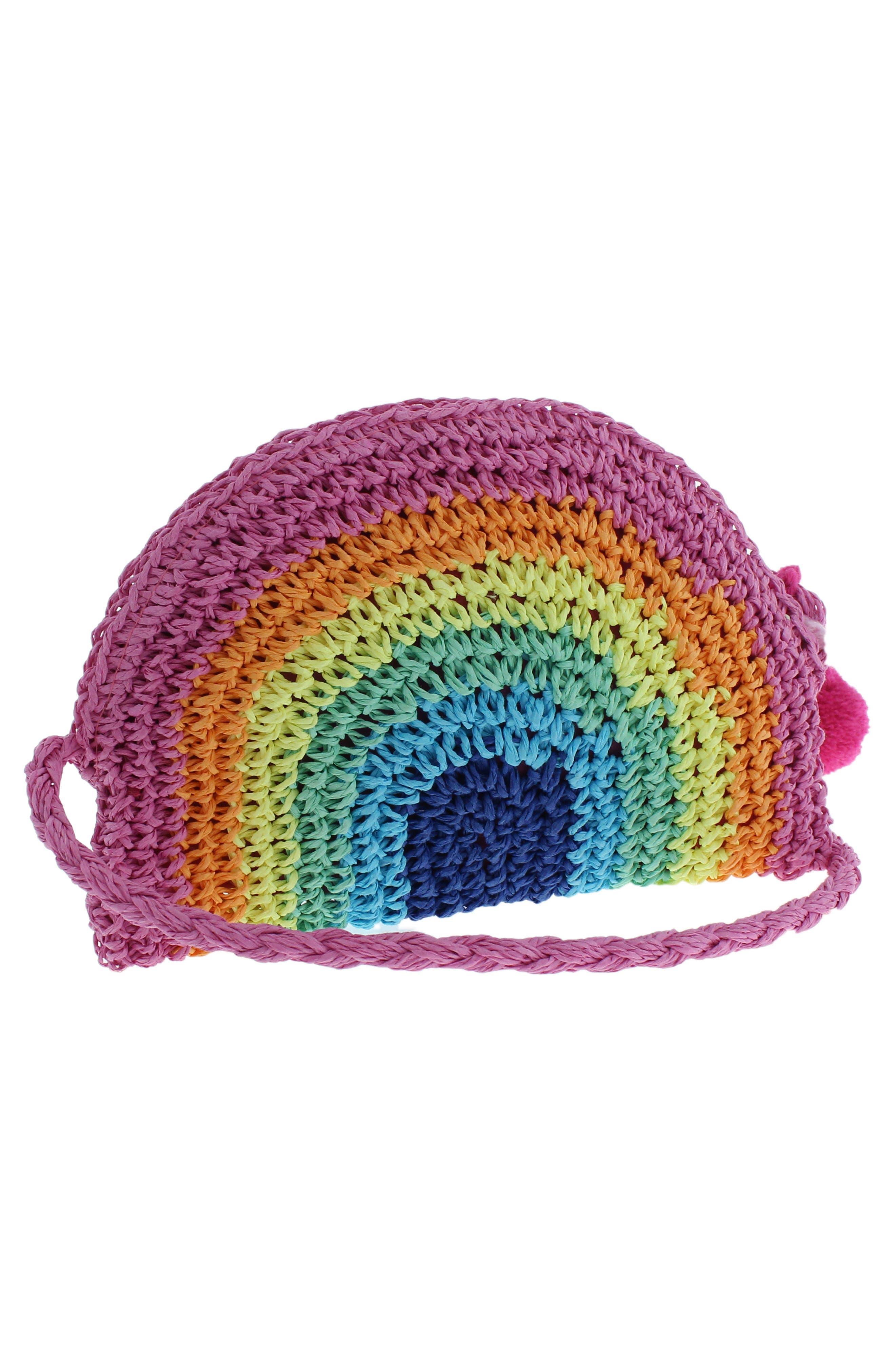 Rainbow Straw Crossbody Bag,                             Alternate thumbnail 2, color,                             MULTI CO