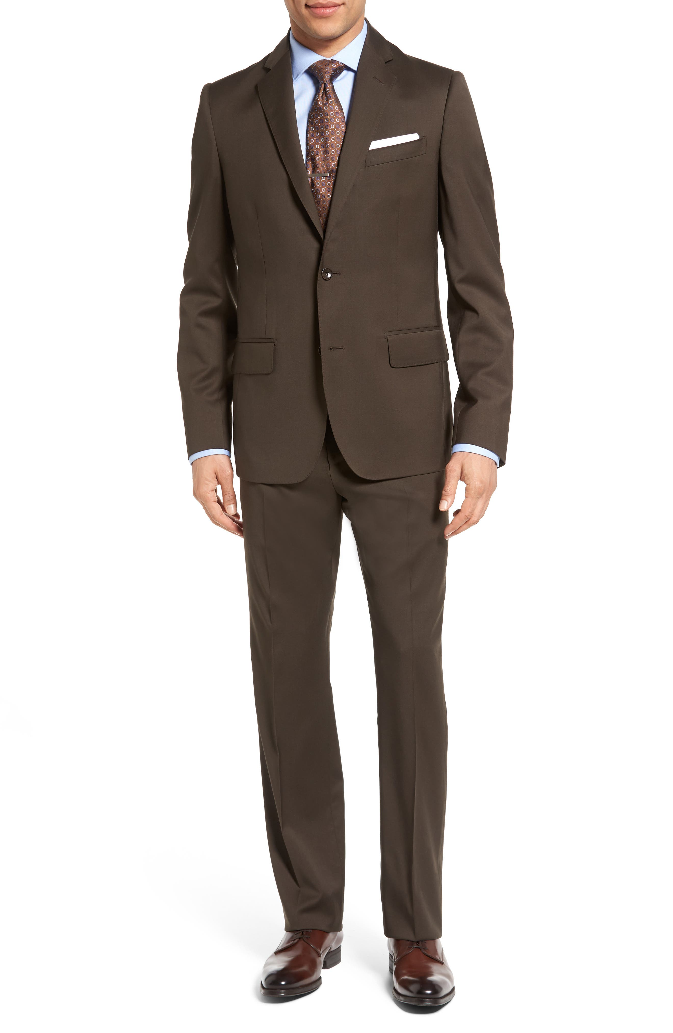Classic Fit Solid Wool Suit,                             Main thumbnail 3, color,