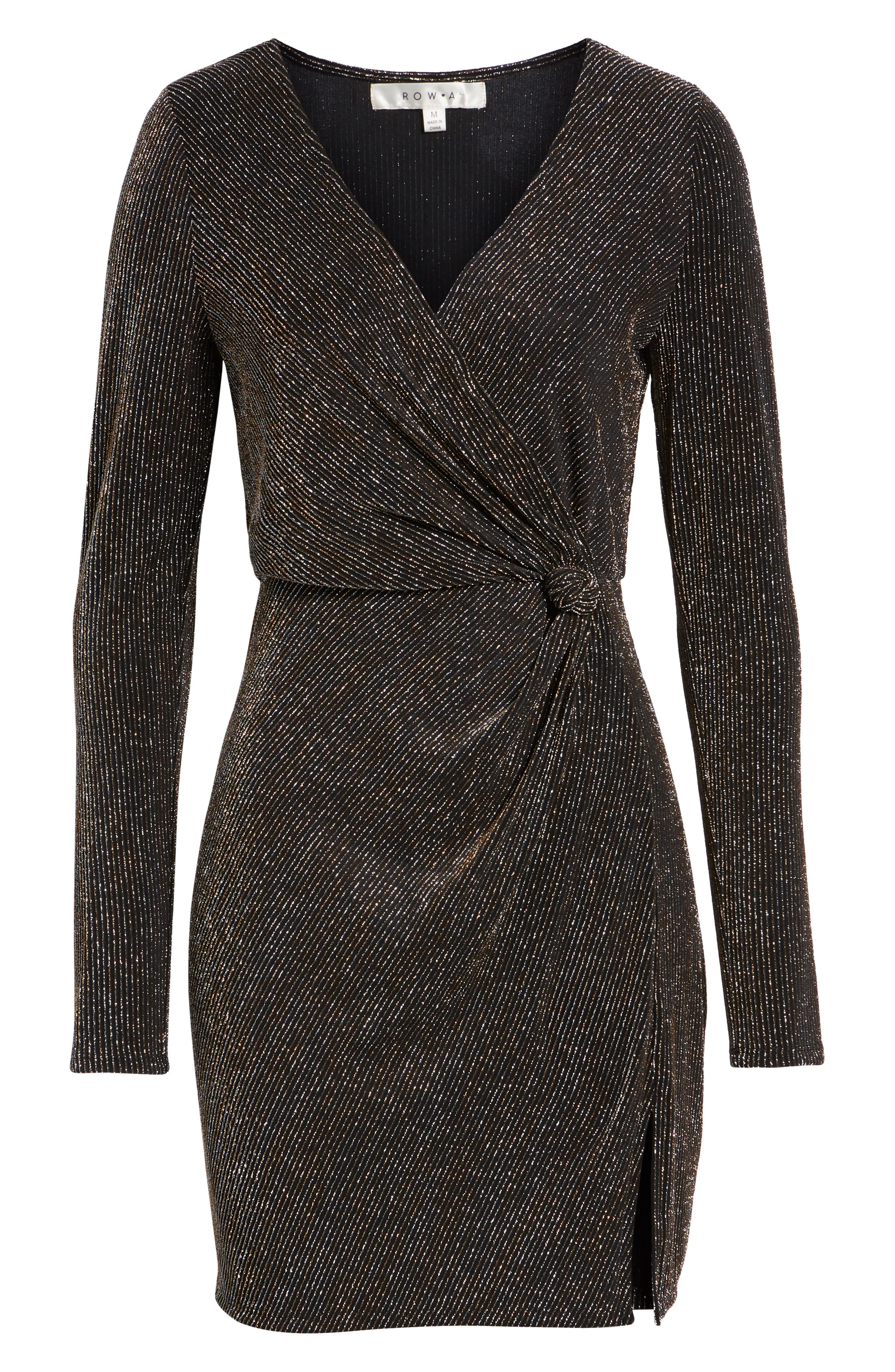 Metallic Sheath Dress,                             Alternate thumbnail 7, color,                             GOLD