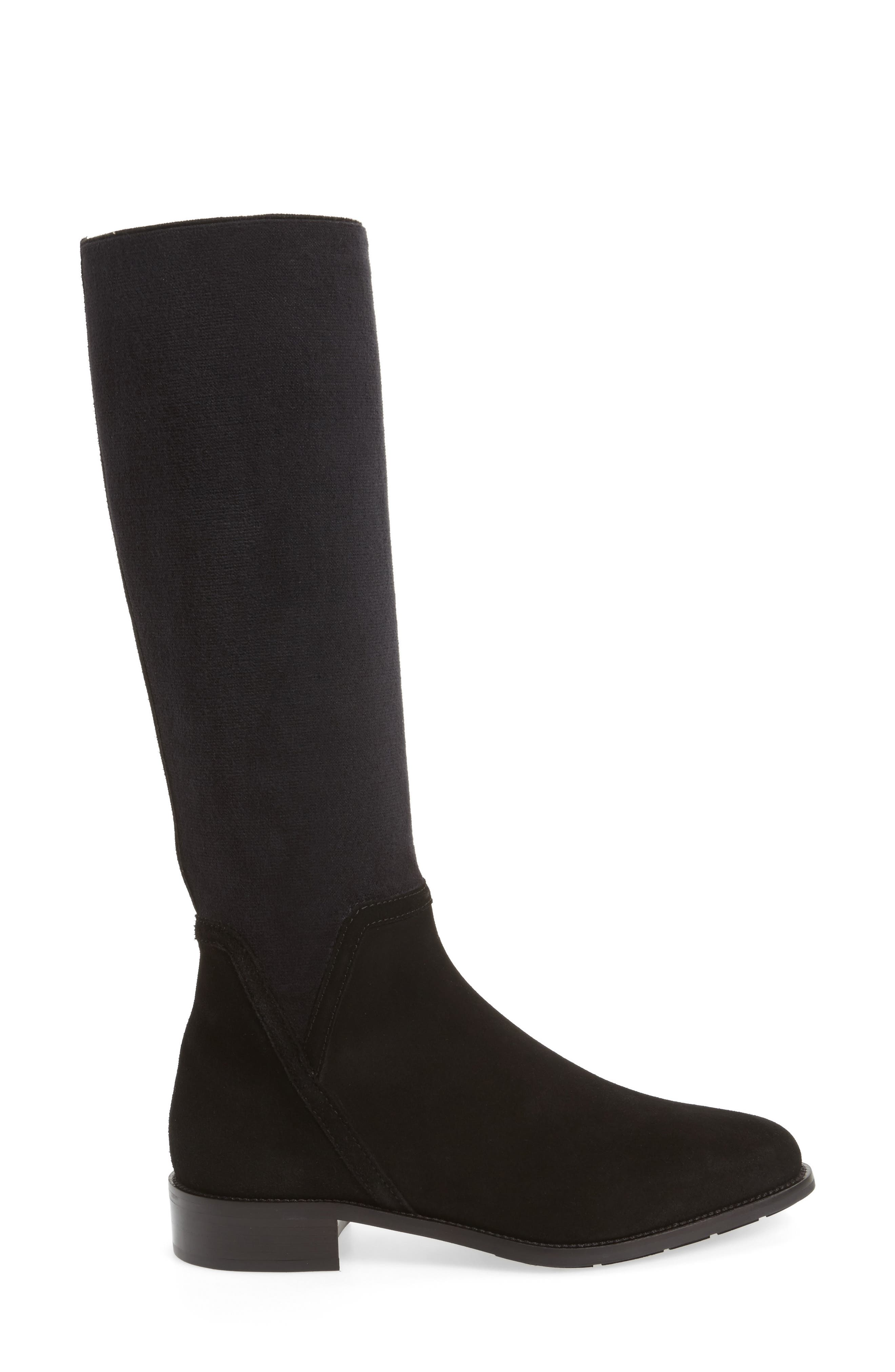 Nicolette Knee High Weatherproof Boot,                             Alternate thumbnail 3, color,                             001