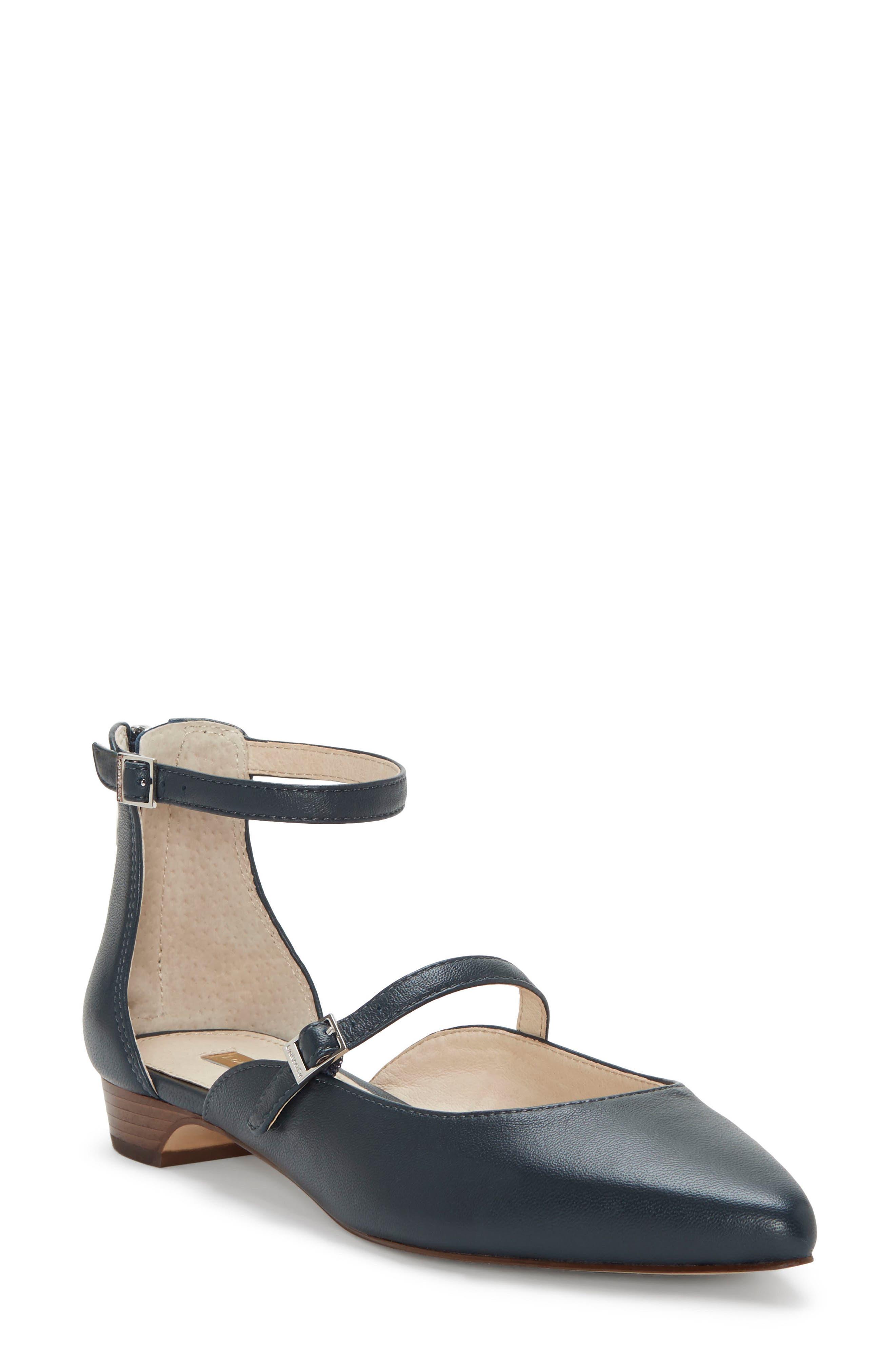 Louise Et Cie Claire Ankle Strap Flat, Blue