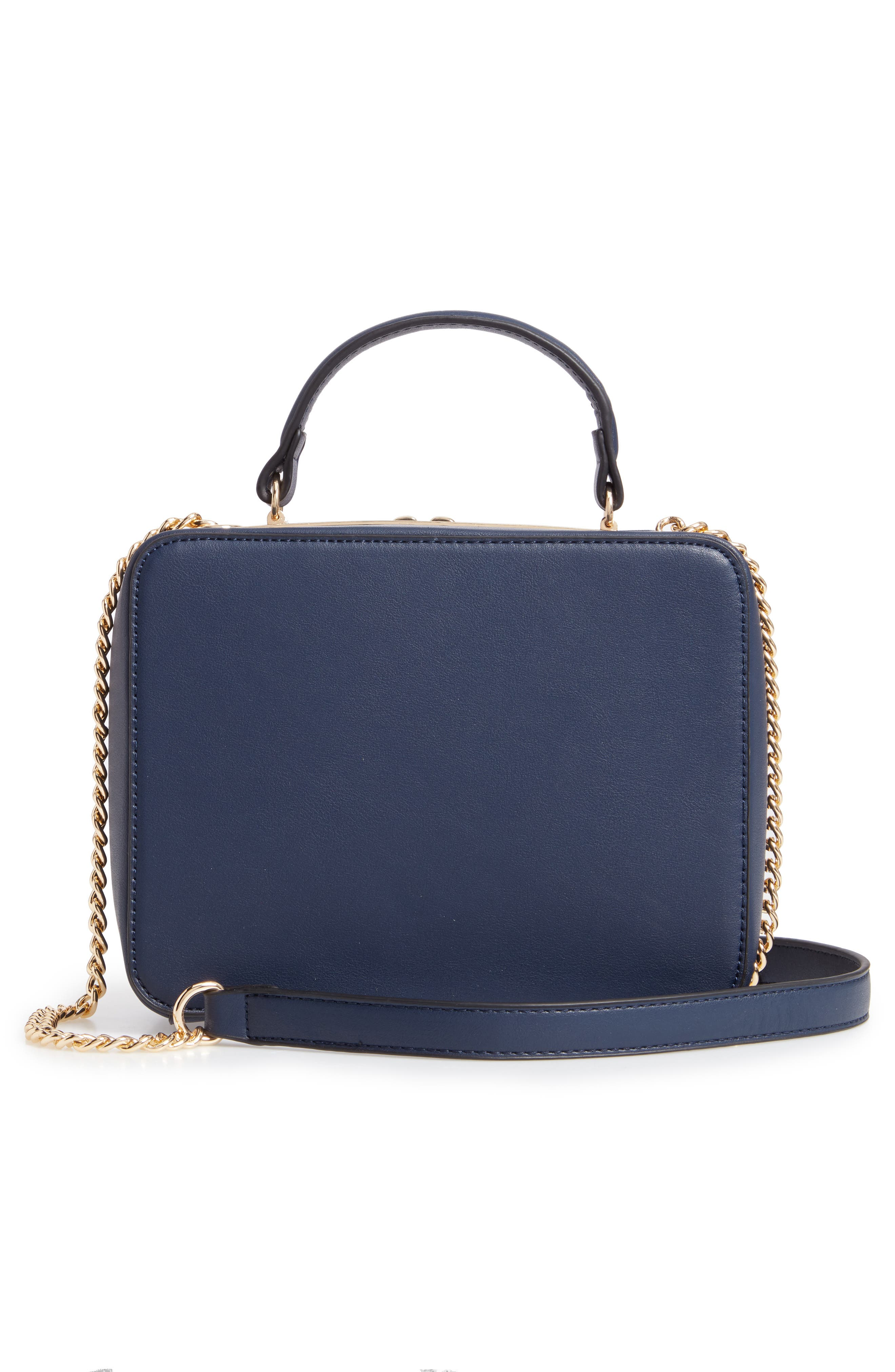 Grommet Detail Faux Leather Crossbody Bag,                             Alternate thumbnail 3, color,                             400