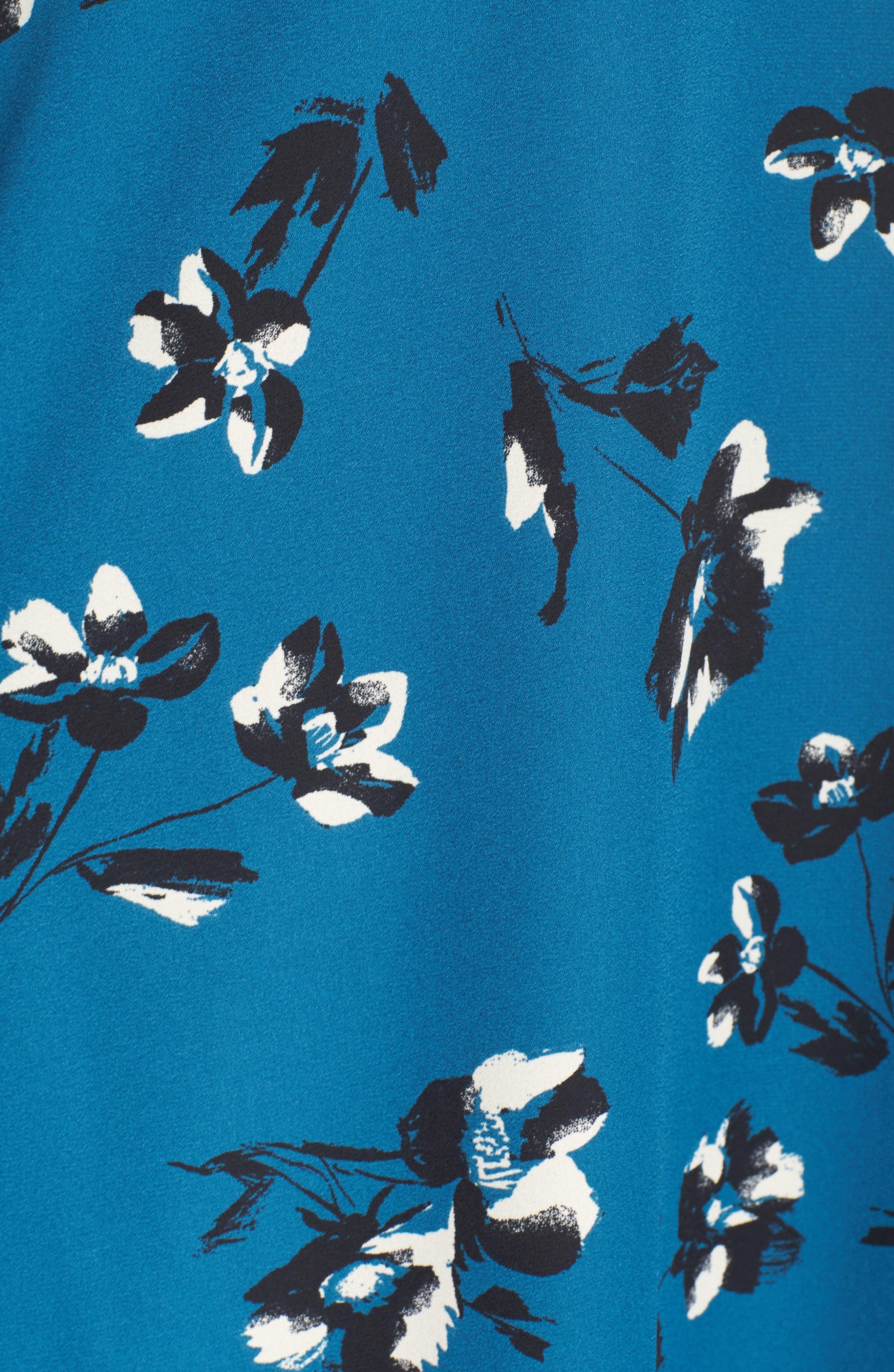 Bell Sleeve Shirtdress,                             Alternate thumbnail 5, color,                             449