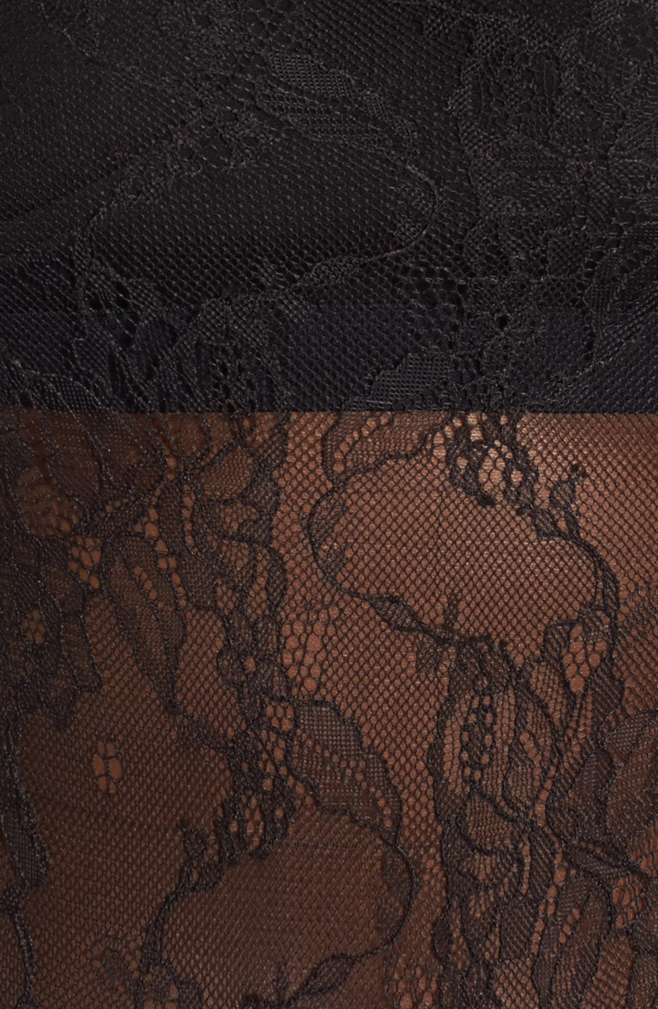 Esme Ruffle Lace Bodysuit,                             Alternate thumbnail 5, color,                             001