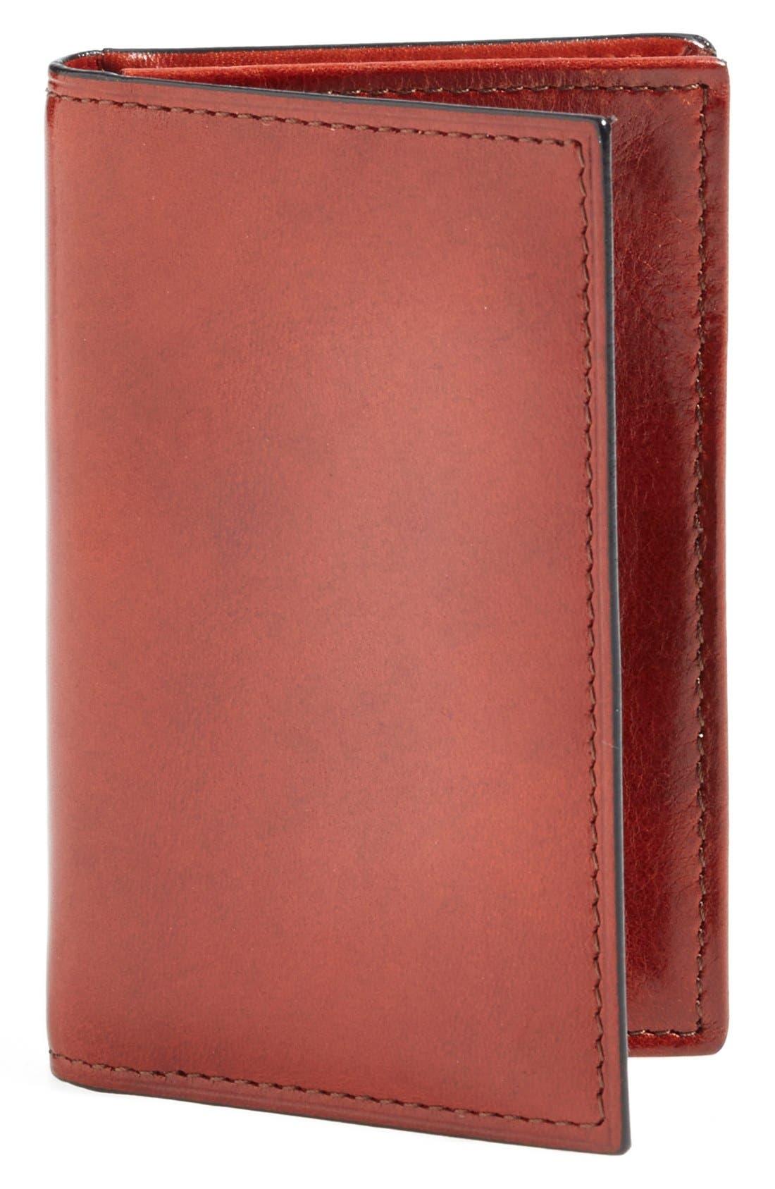 'Old Leather' Gusset Wallet,                             Main thumbnail 1, color,                             COGNAC