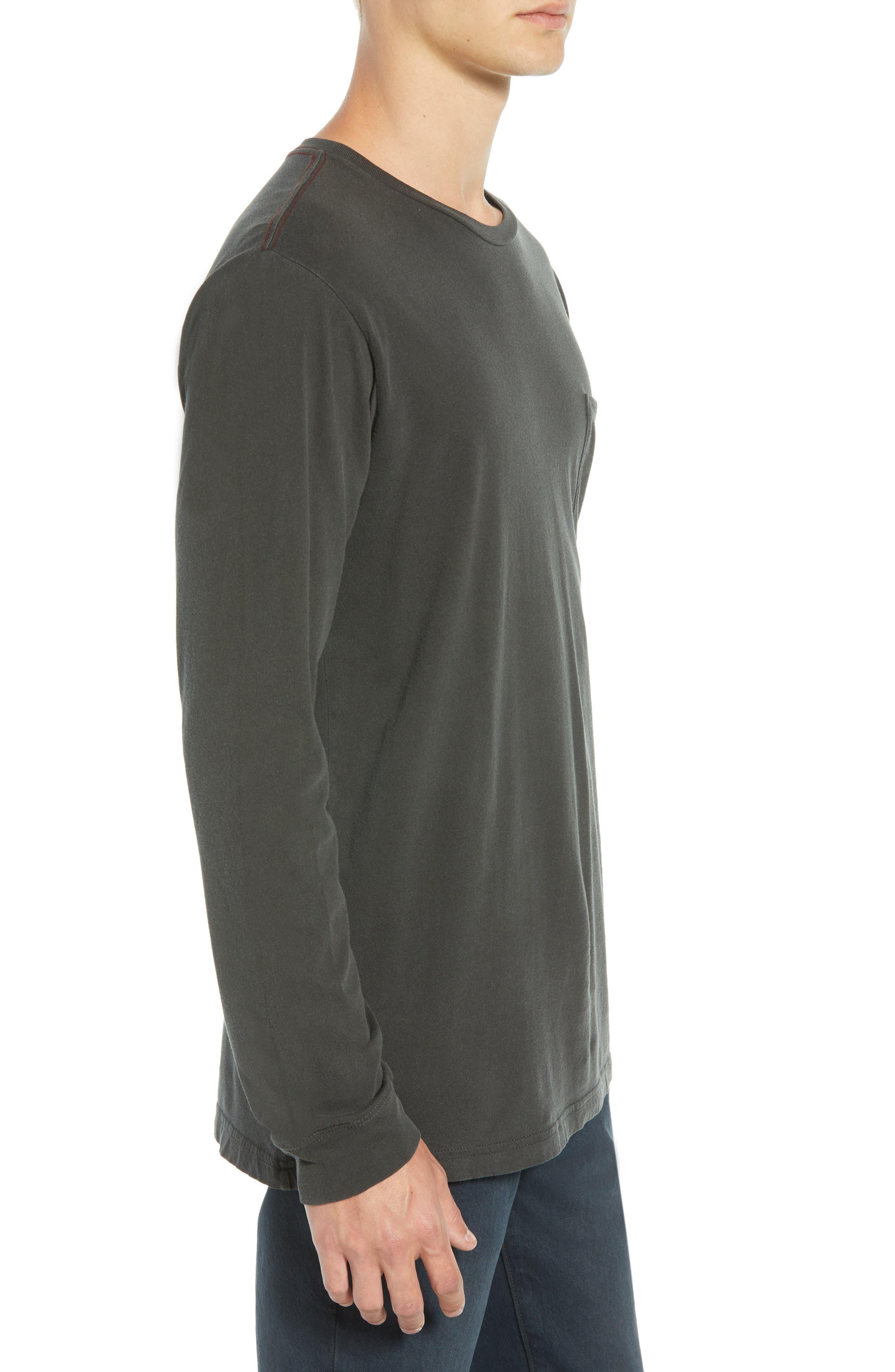 PTC Pigment Long Sleeve T-Shirt,                             Alternate thumbnail 3, color,                             PIRATE BLACK