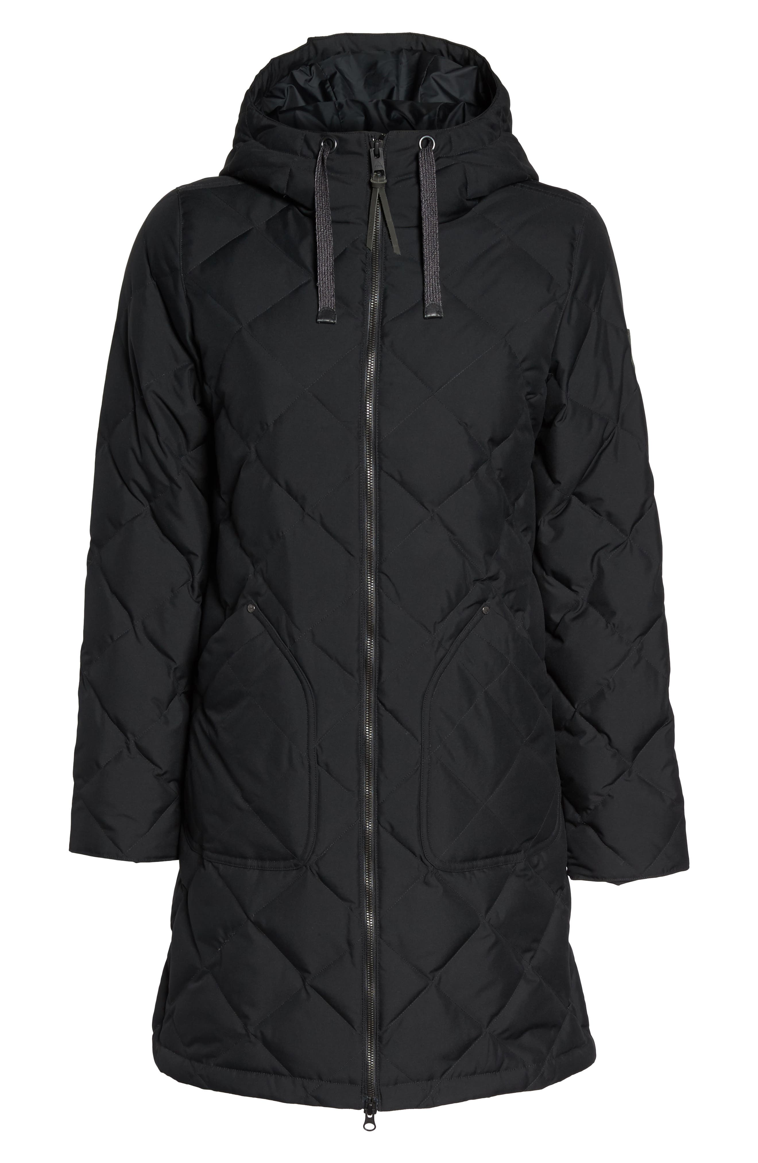 Bixby Long Down Jacket,                             Alternate thumbnail 6, color,                             001