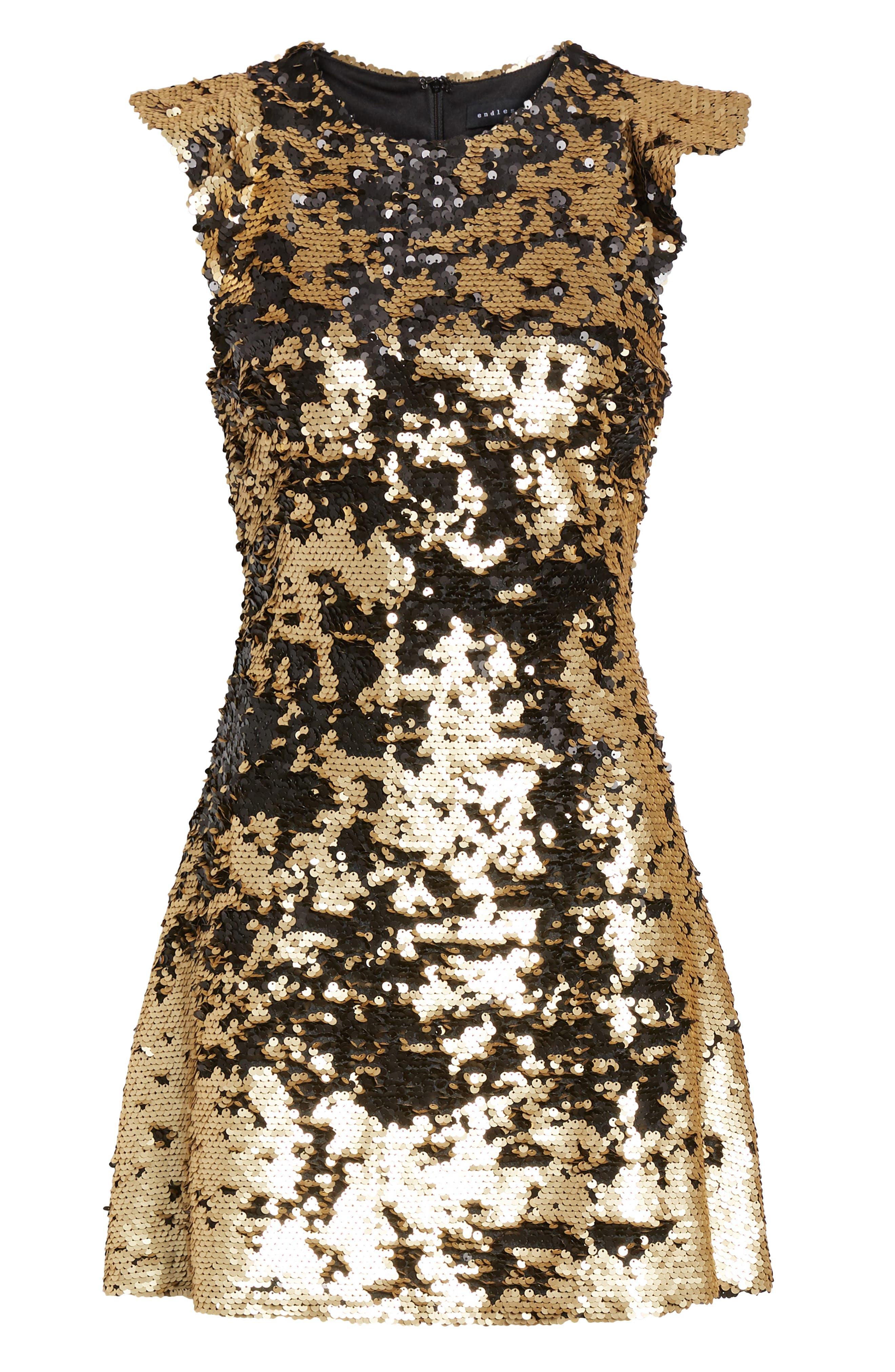 Sequin Babydoll Dress,                             Alternate thumbnail 7, color,                             710