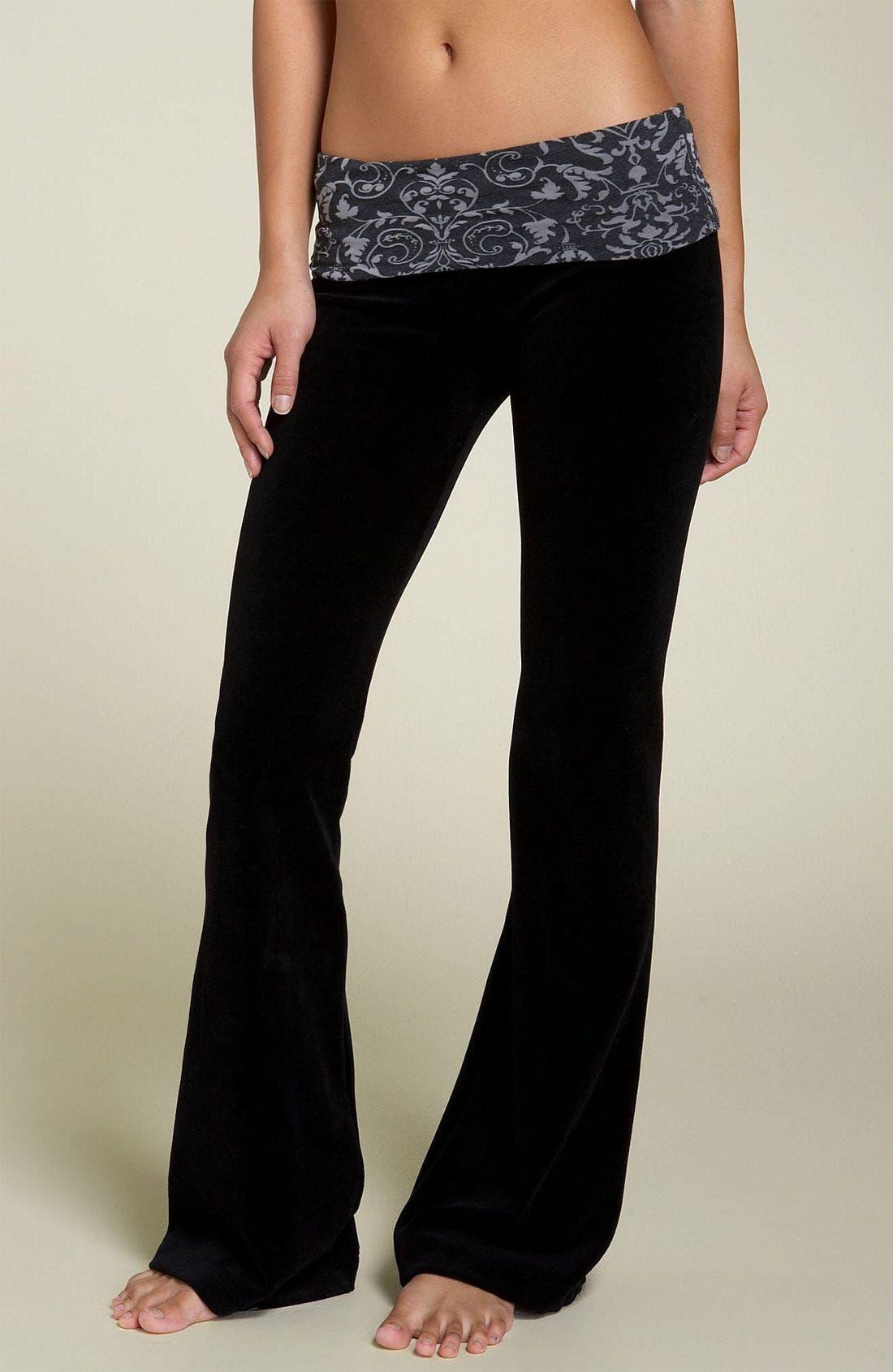 Foldover Jersey Pants,                             Main thumbnail 1, color,                             001