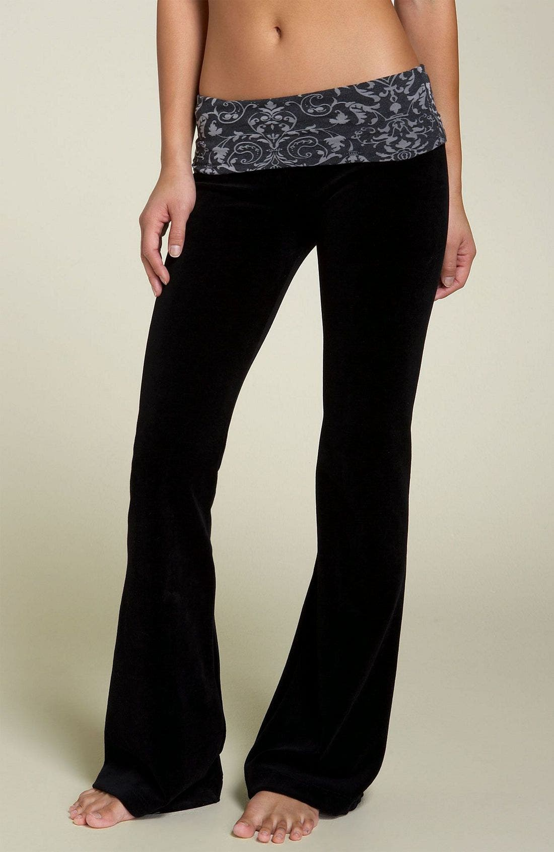 Foldover Jersey Pants, Main, color, 001