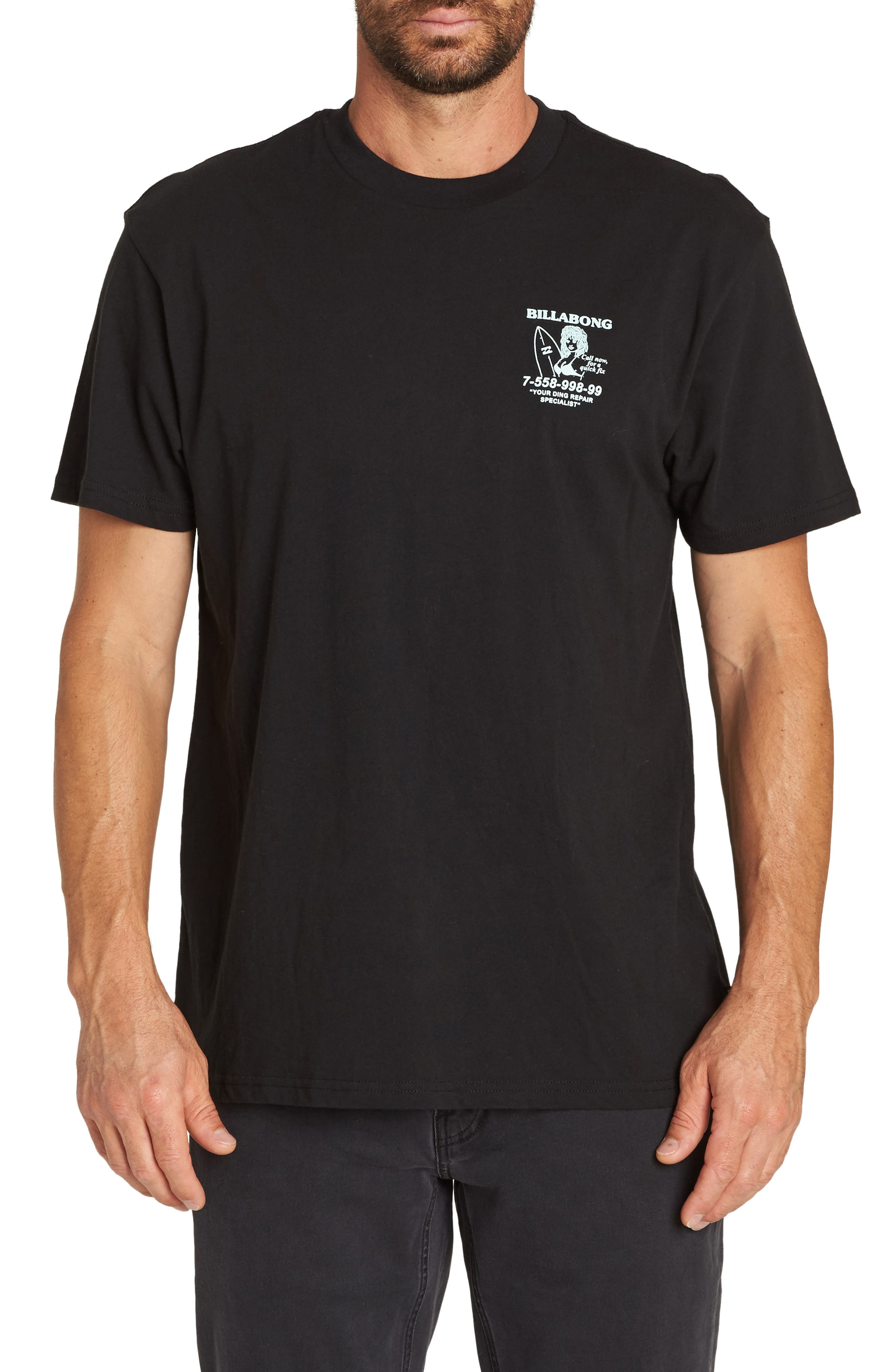 Fix Graphic T-Shirt,                             Main thumbnail 1, color,                             BLACK
