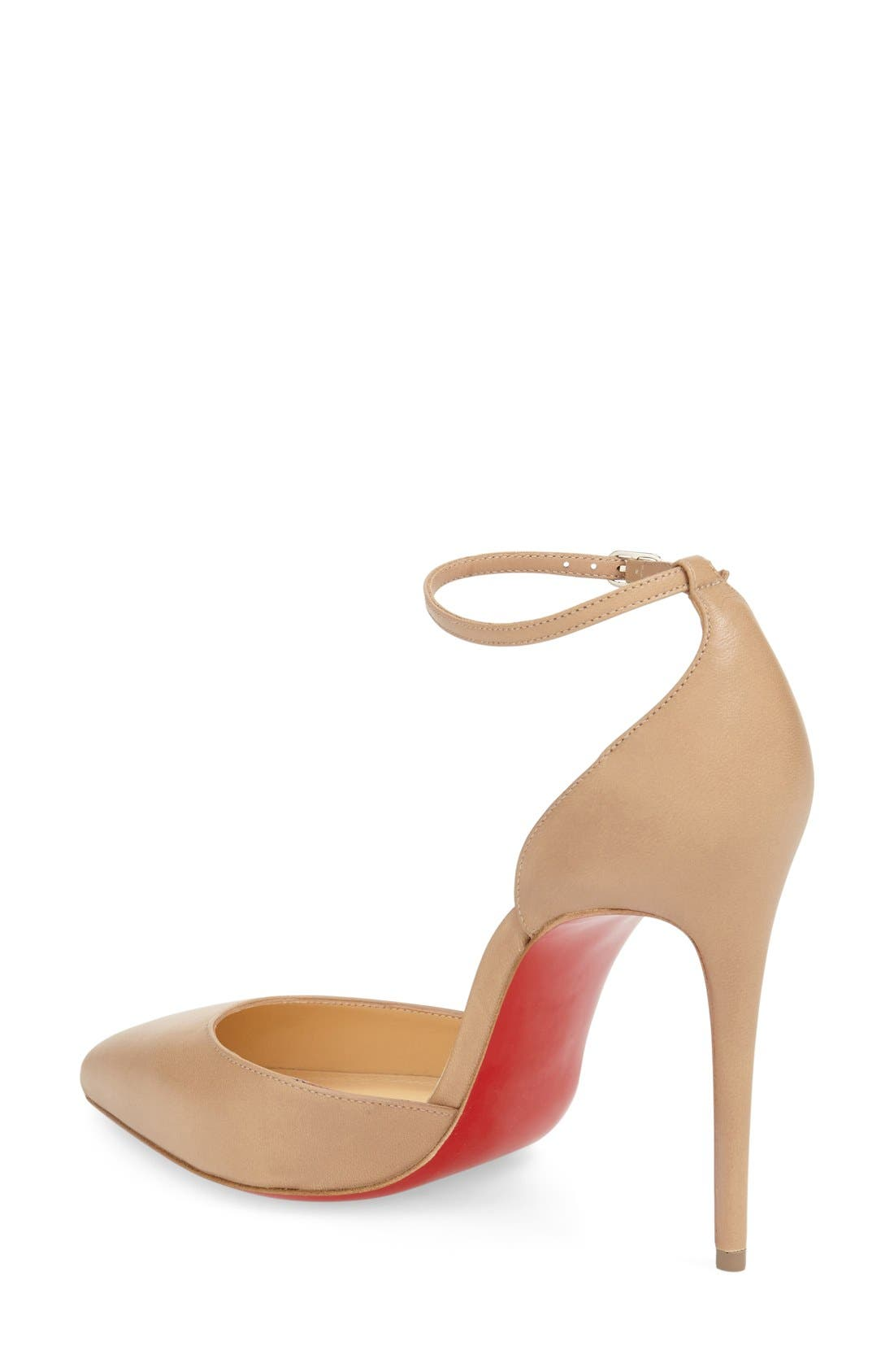 Uptown Ankle Strap Pointy Toe Pump,                             Alternate thumbnail 2, color,                             250