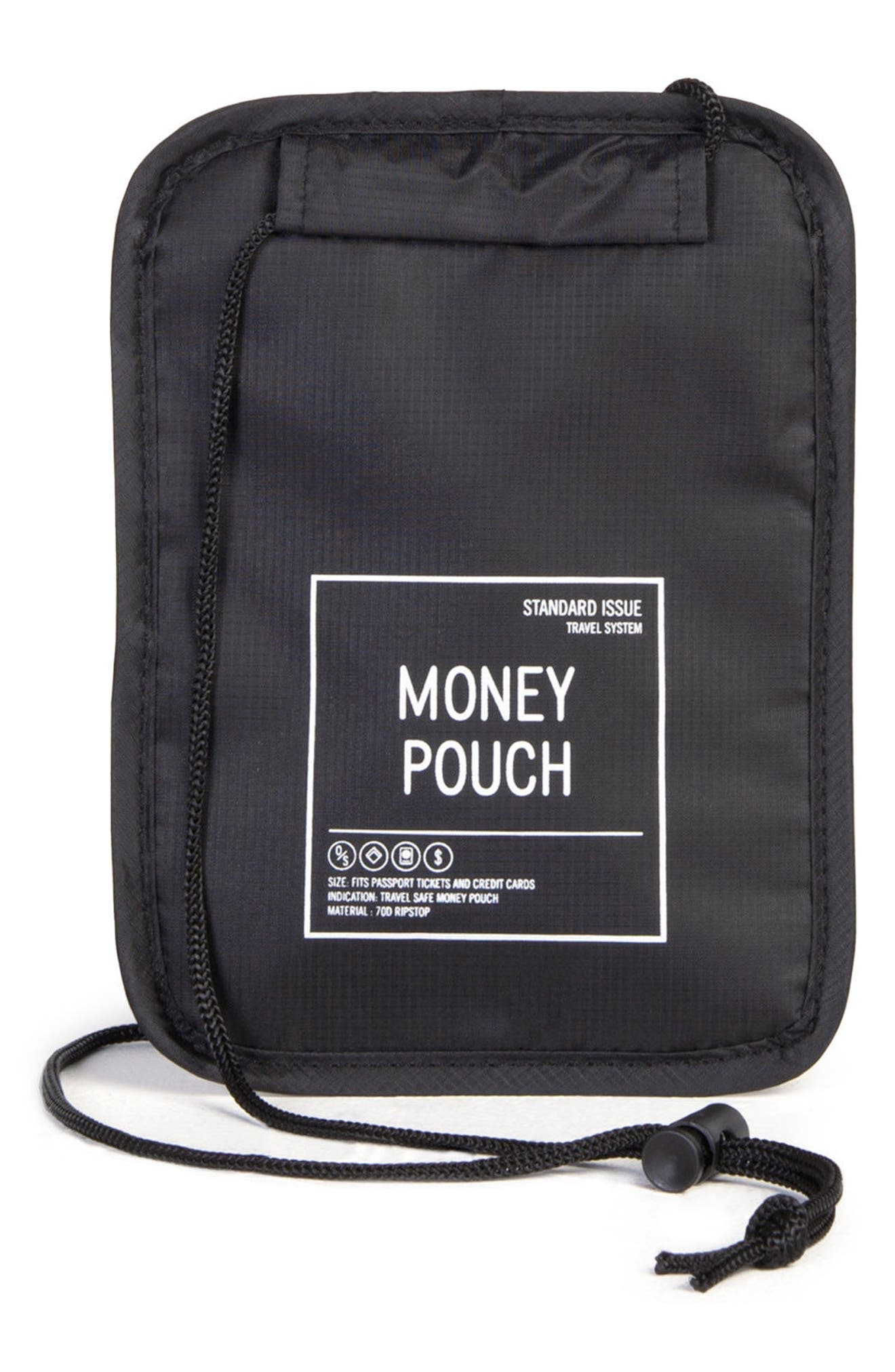 Money Pouch,                             Alternate thumbnail 2, color,                             BLACK