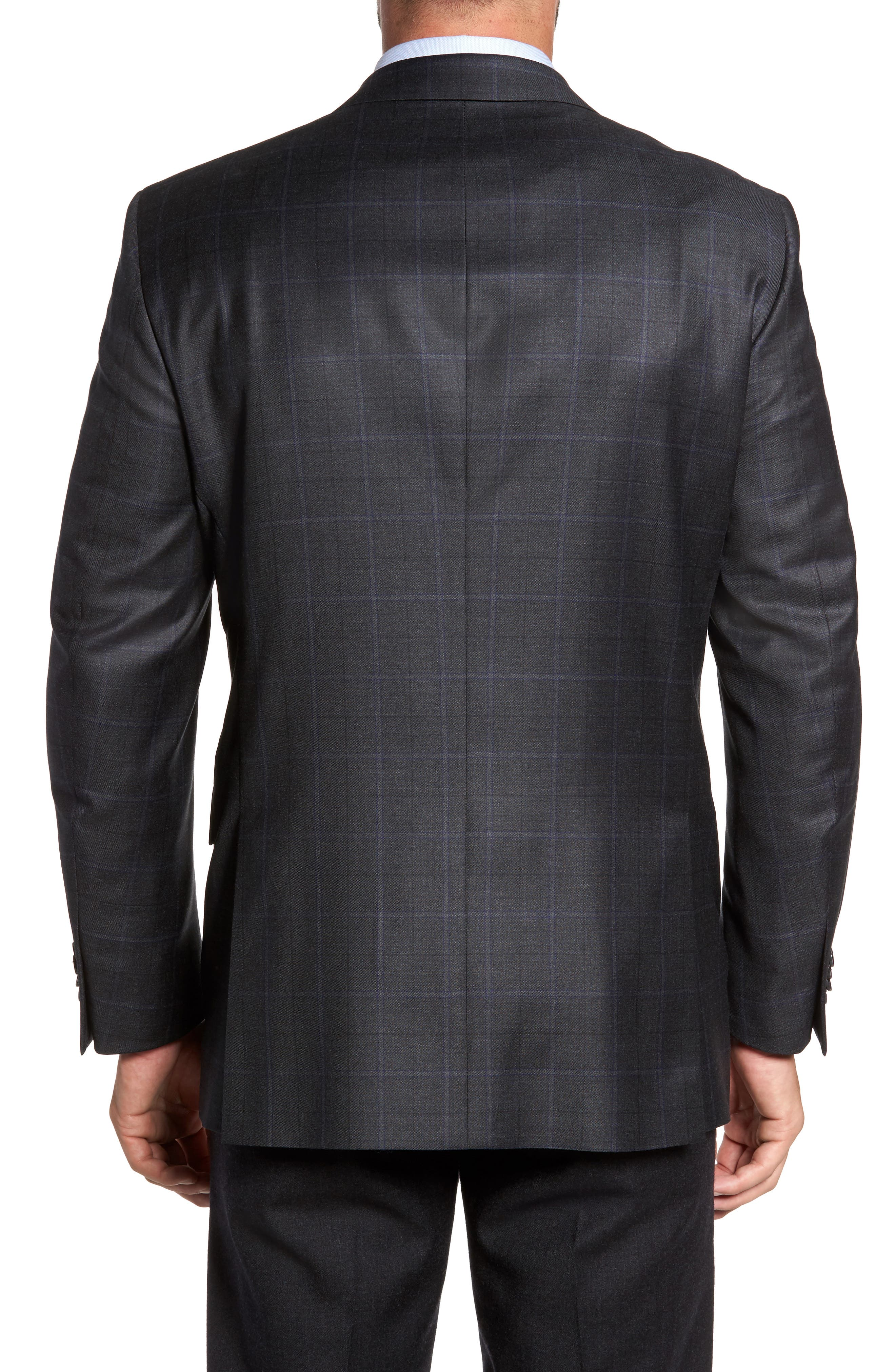 Classic Fit Windowpane Wool Sport Coat,                             Alternate thumbnail 2, color,                             010