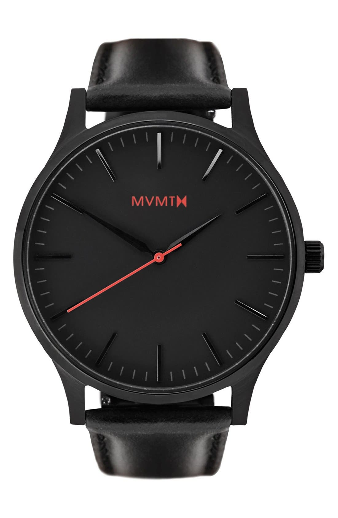 Leather Strap Watch, 40mm,                             Main thumbnail 1, color,                             002