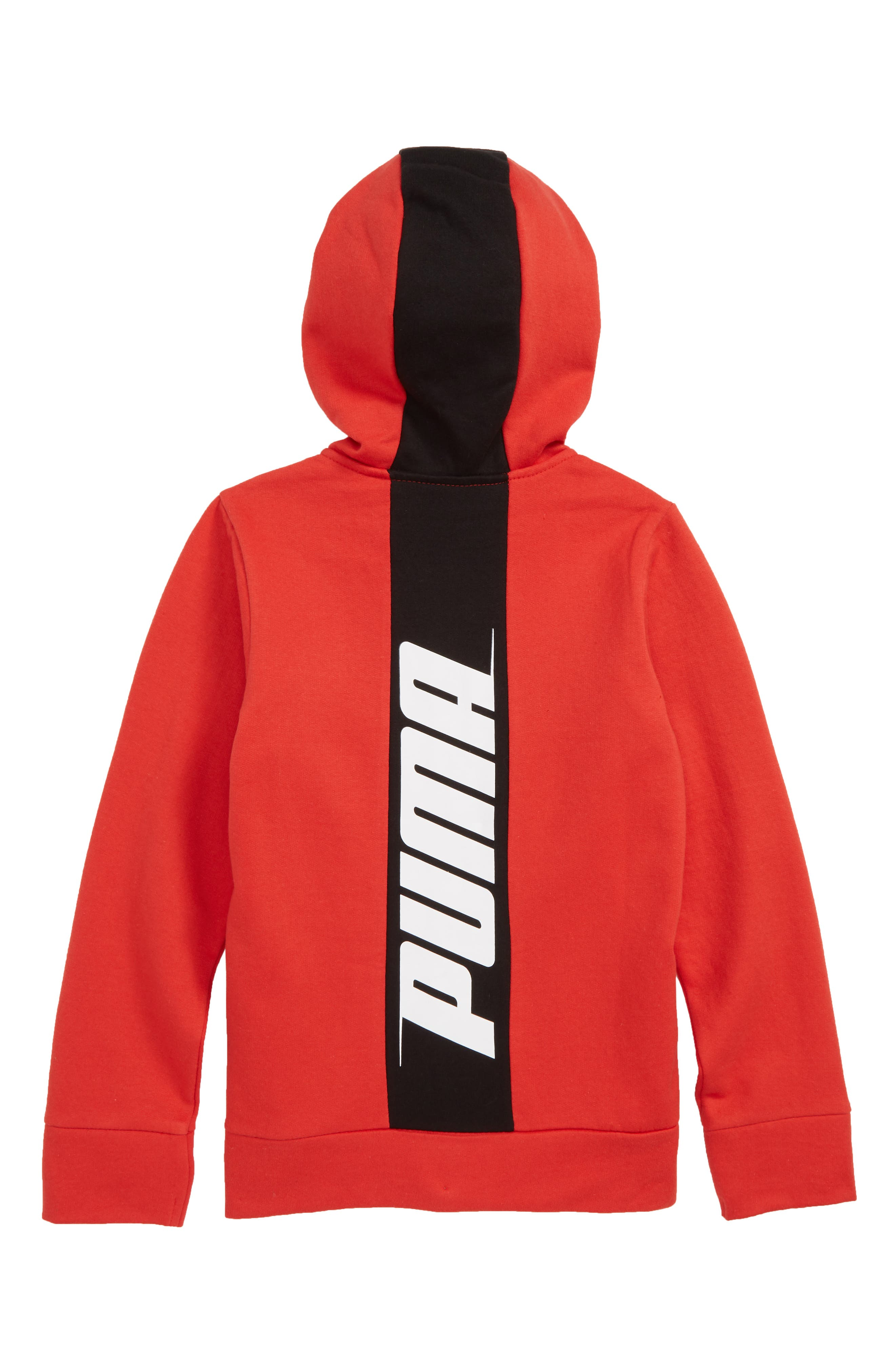 Colorblock Fleece Zip-Up Hoodie,                             Alternate thumbnail 2, color,                             HIGHT RISK RED