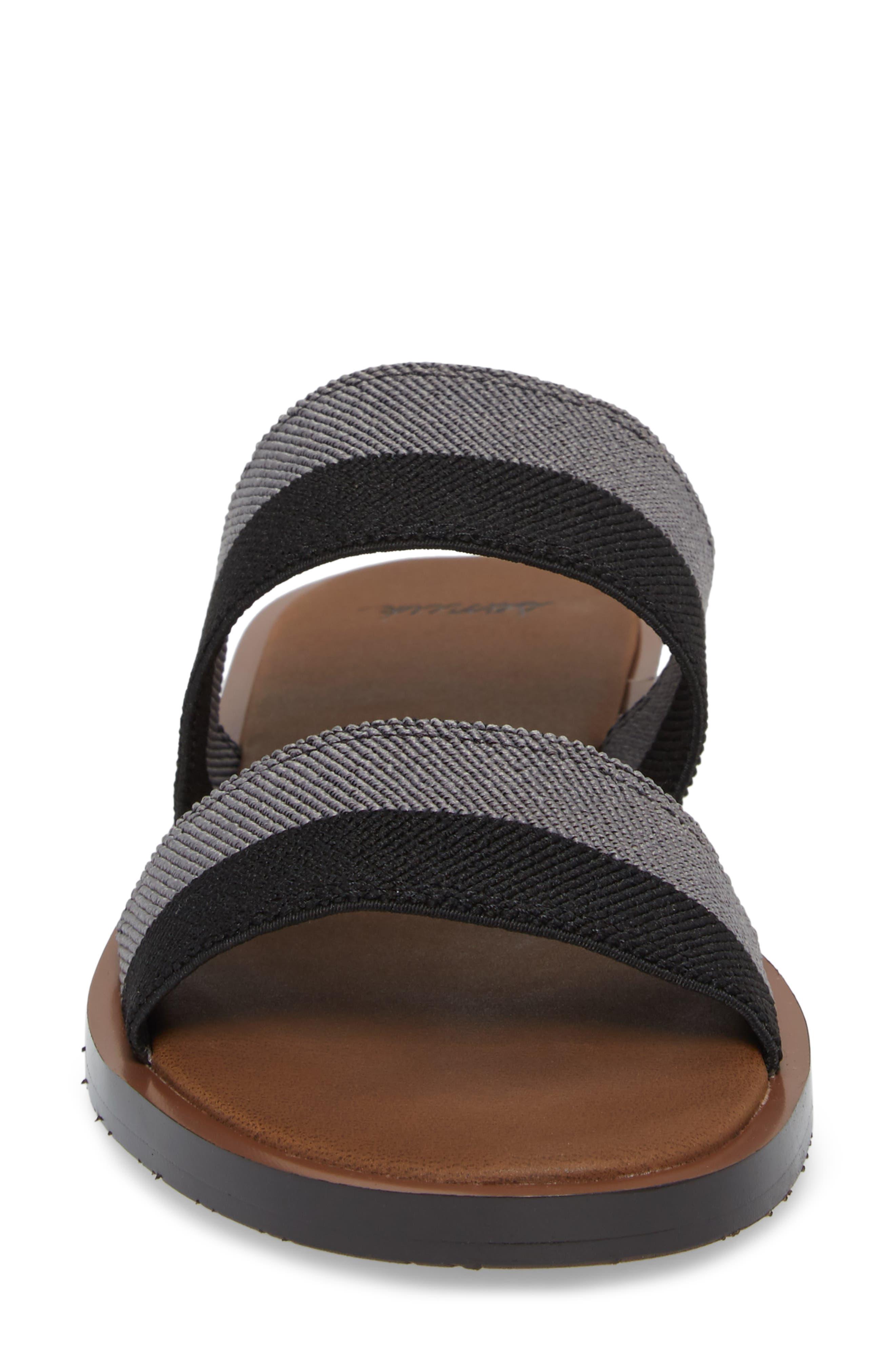 Yoga Gora Gora Slide Sandal,                             Alternate thumbnail 4, color,                             BLACK/ CHARCOAL
