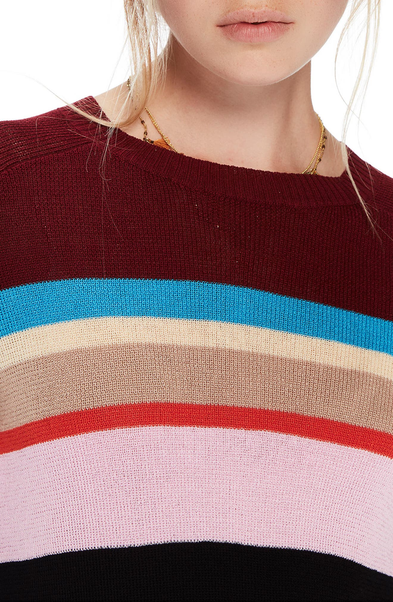 Colorful Stripe Sweater,                             Alternate thumbnail 4, color,                             601