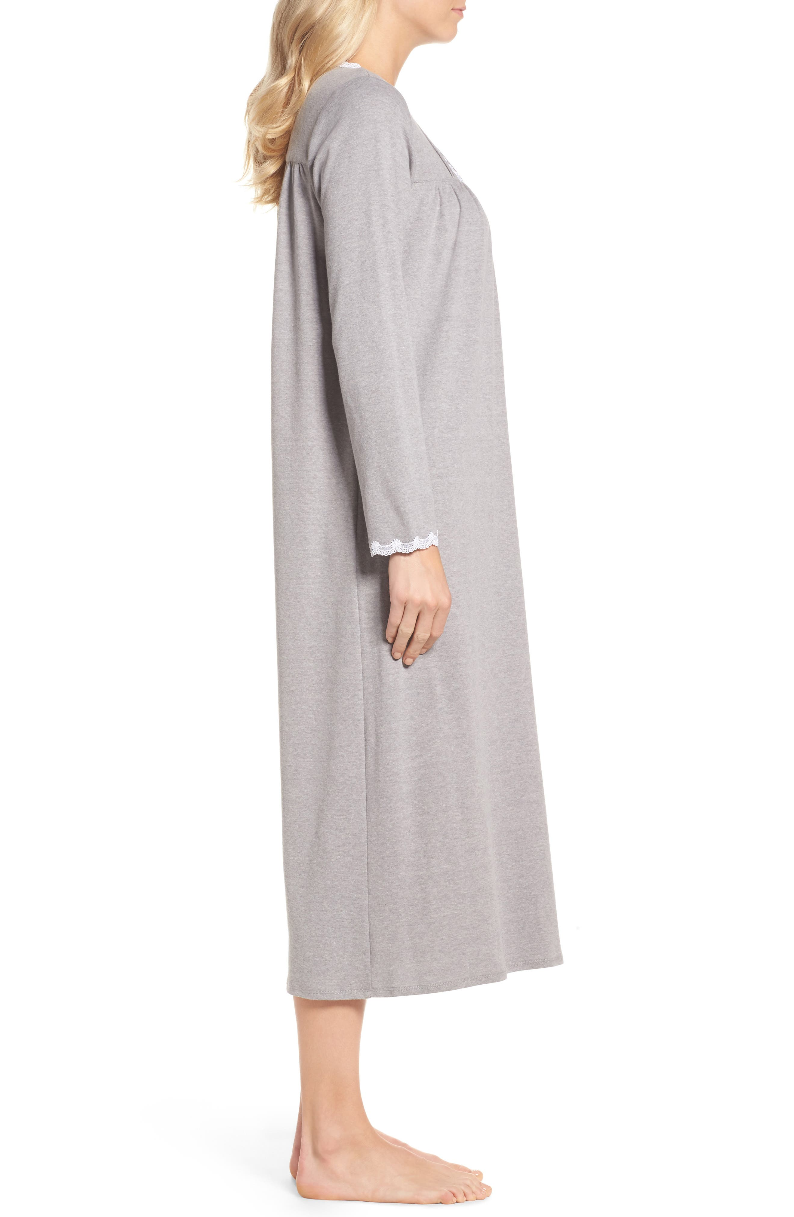 Jersey Nightgown,                             Alternate thumbnail 3, color,                             030