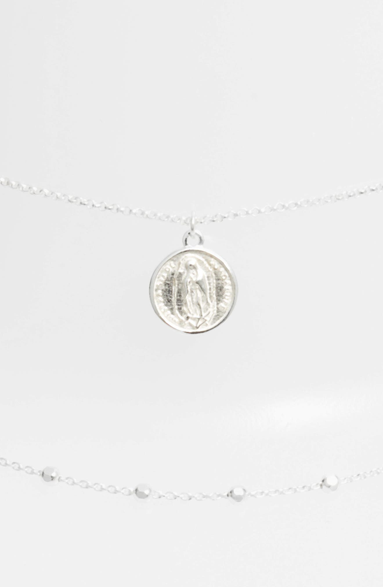 Guadalupe Multistrand Necklace,                             Main thumbnail 1, color,                             SILVER