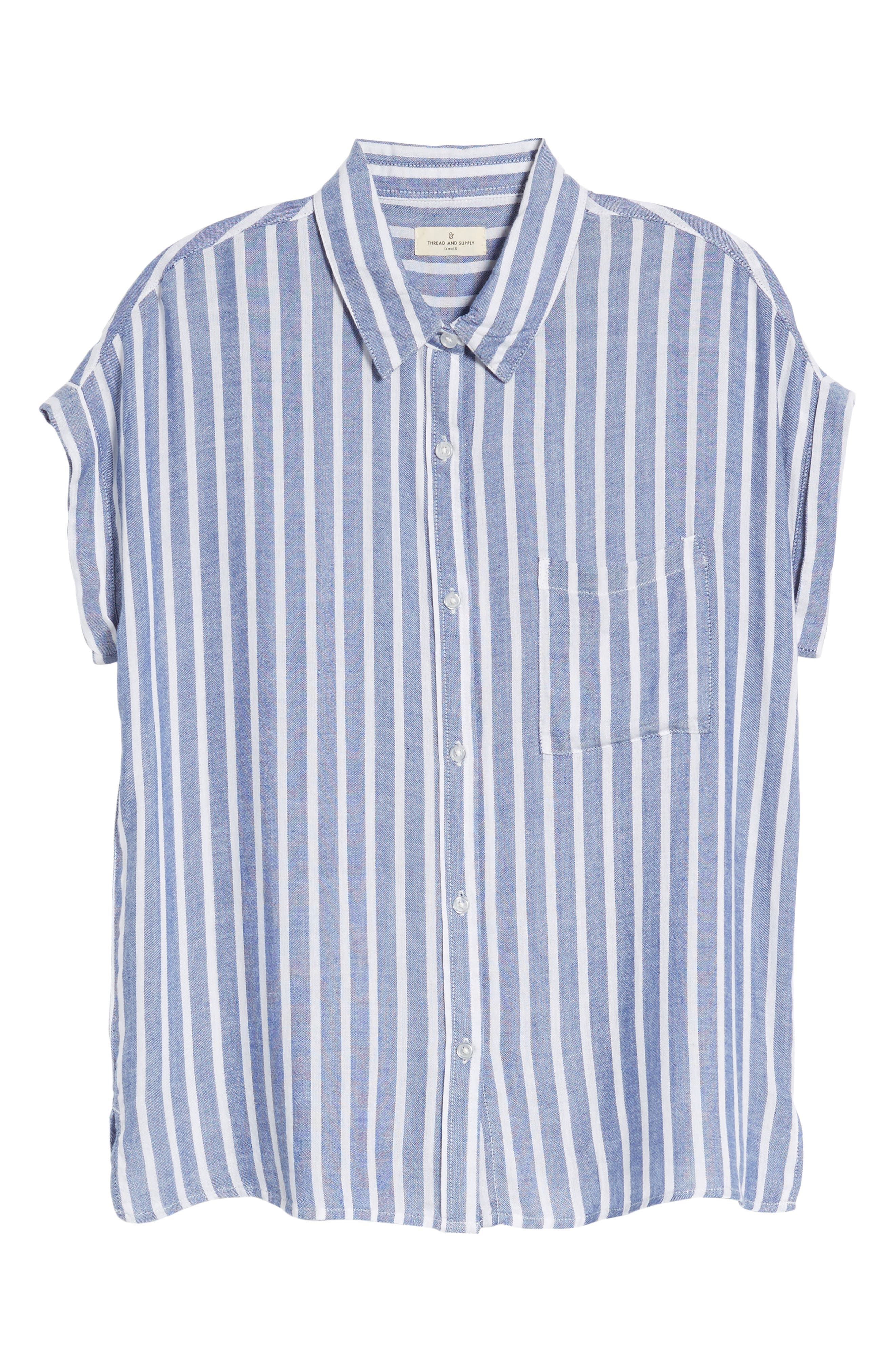Benji Stripe Shirt,                             Alternate thumbnail 6, color,                             400