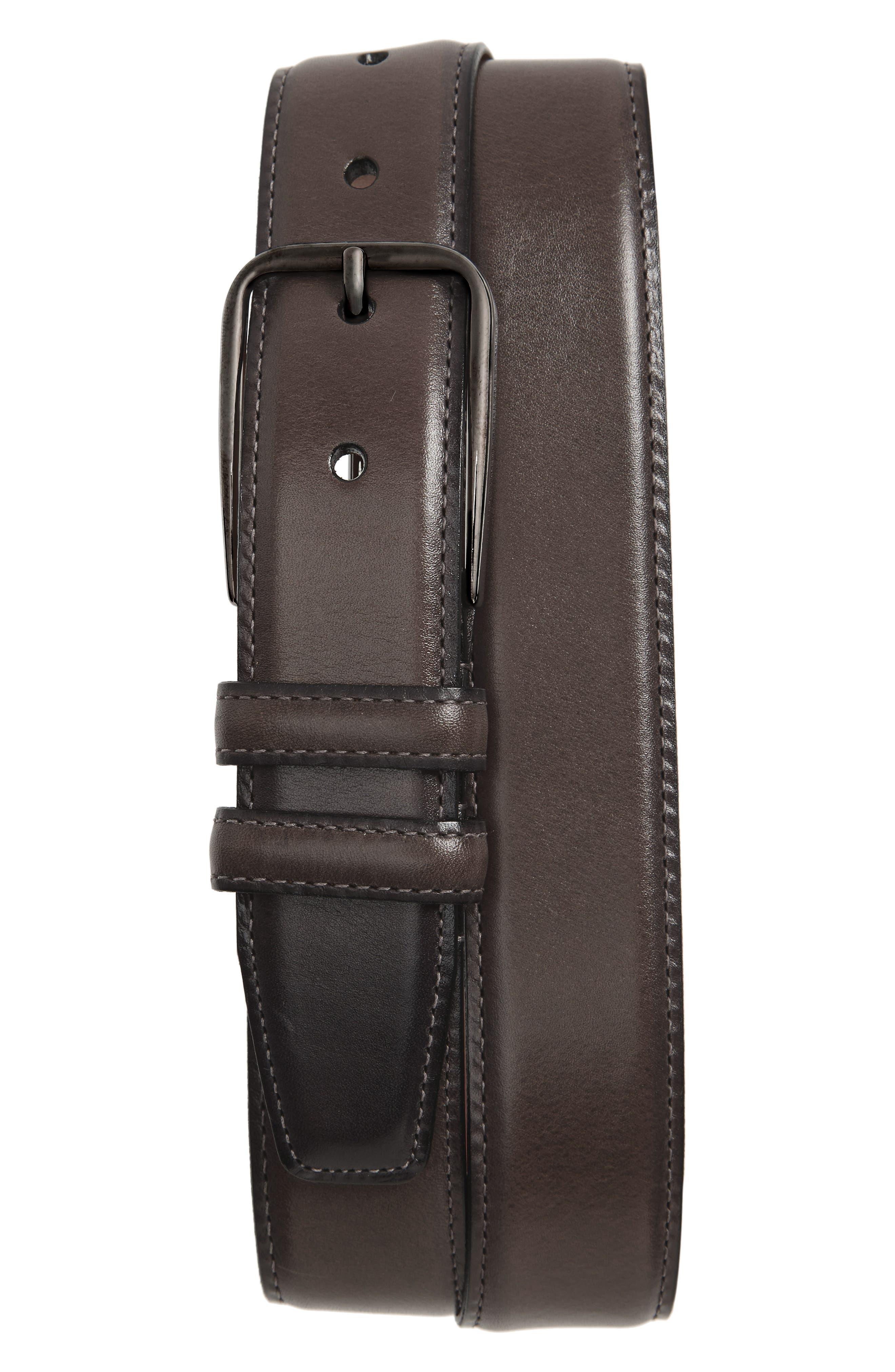 Parker Leather Belt,                             Main thumbnail 2, color,