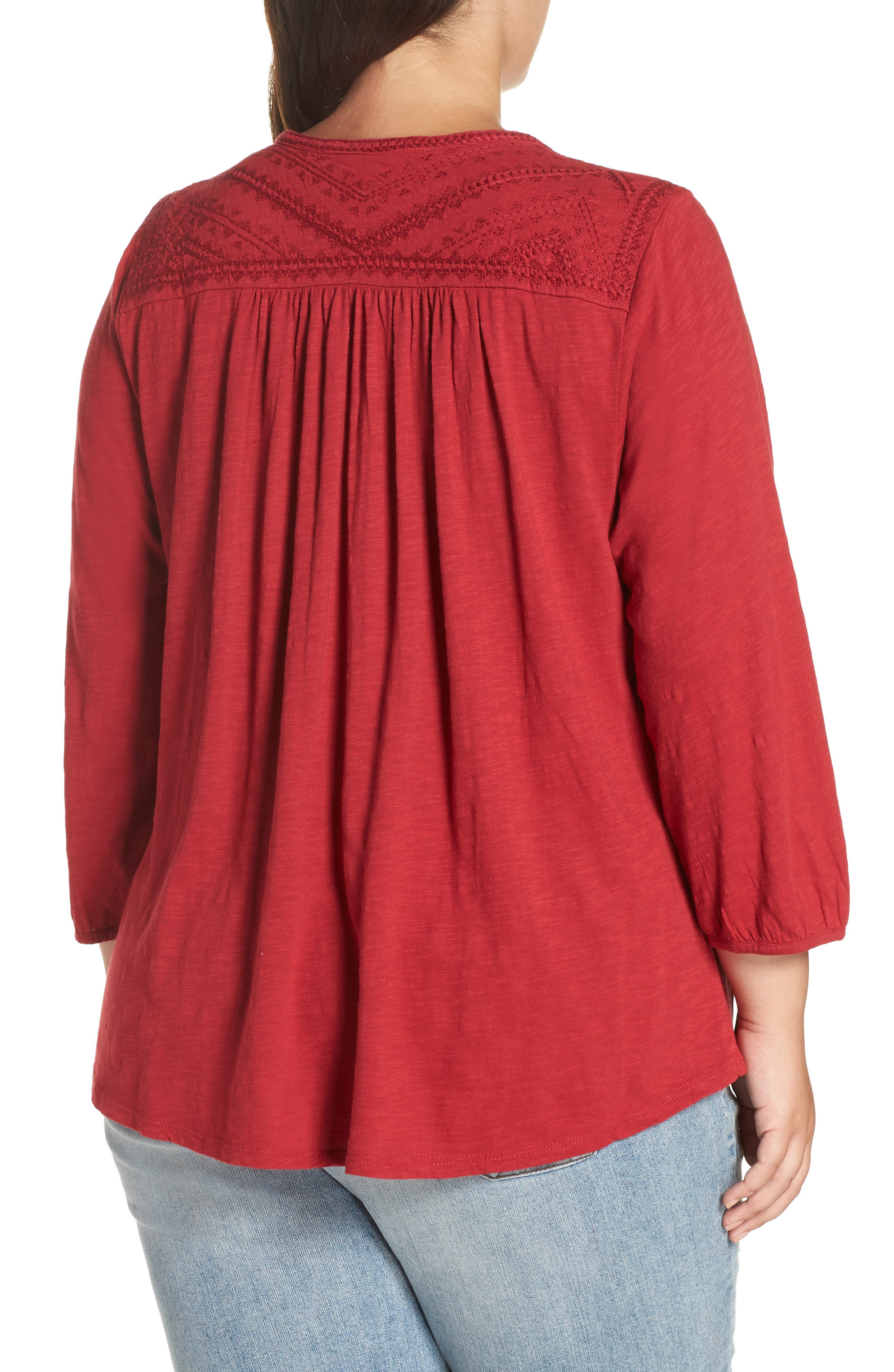 Embroidered Top,                             Alternate thumbnail 2, color,                             600
