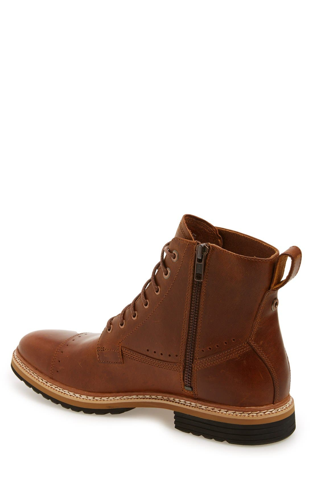 Westhaven 6 Side Zip Boot,                             Alternate thumbnail 2, color,                             LIGHT BROWN LEATHER