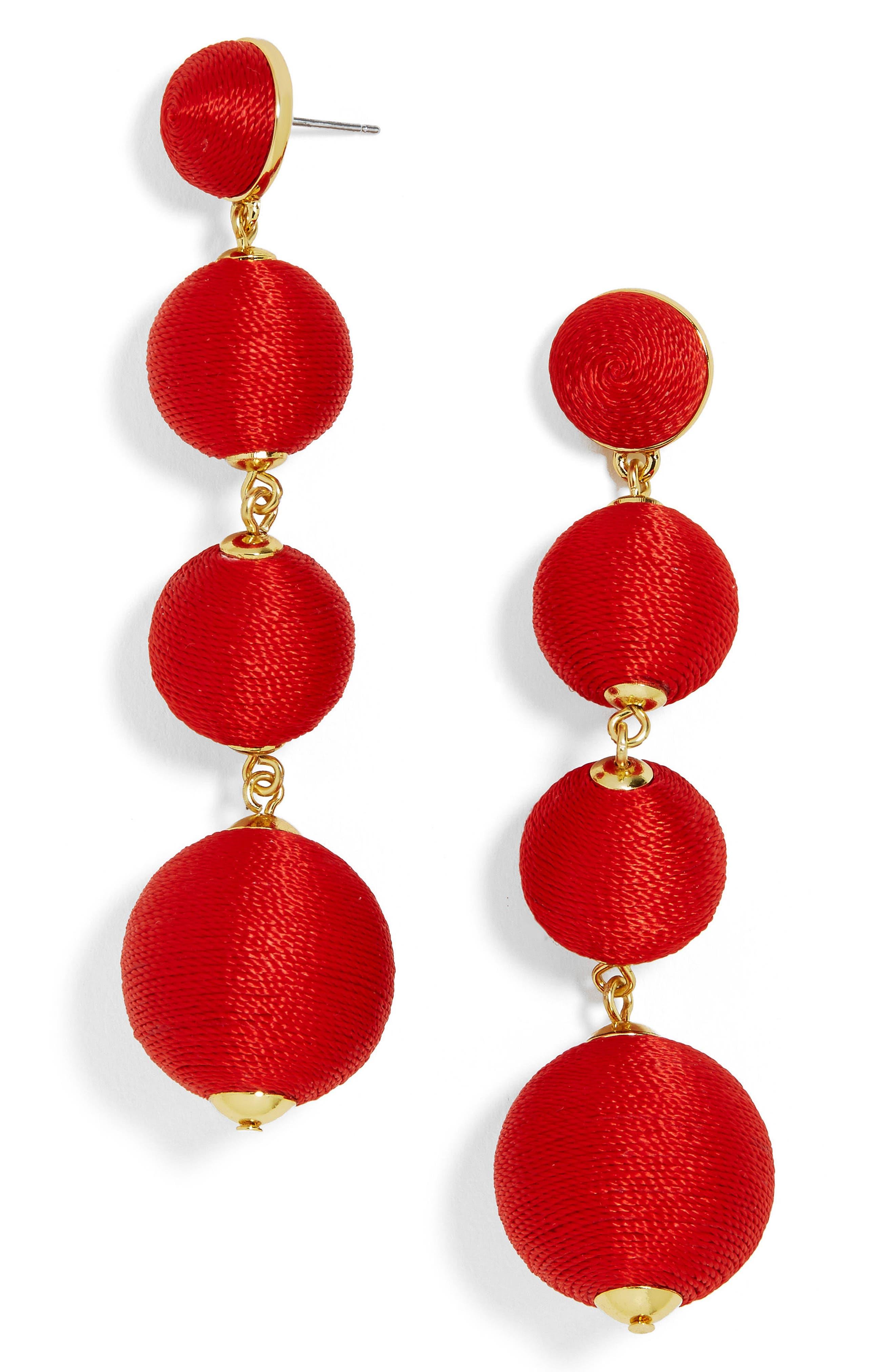 Criselda Ball Shoulder Duster Earrings,                             Main thumbnail 5, color,