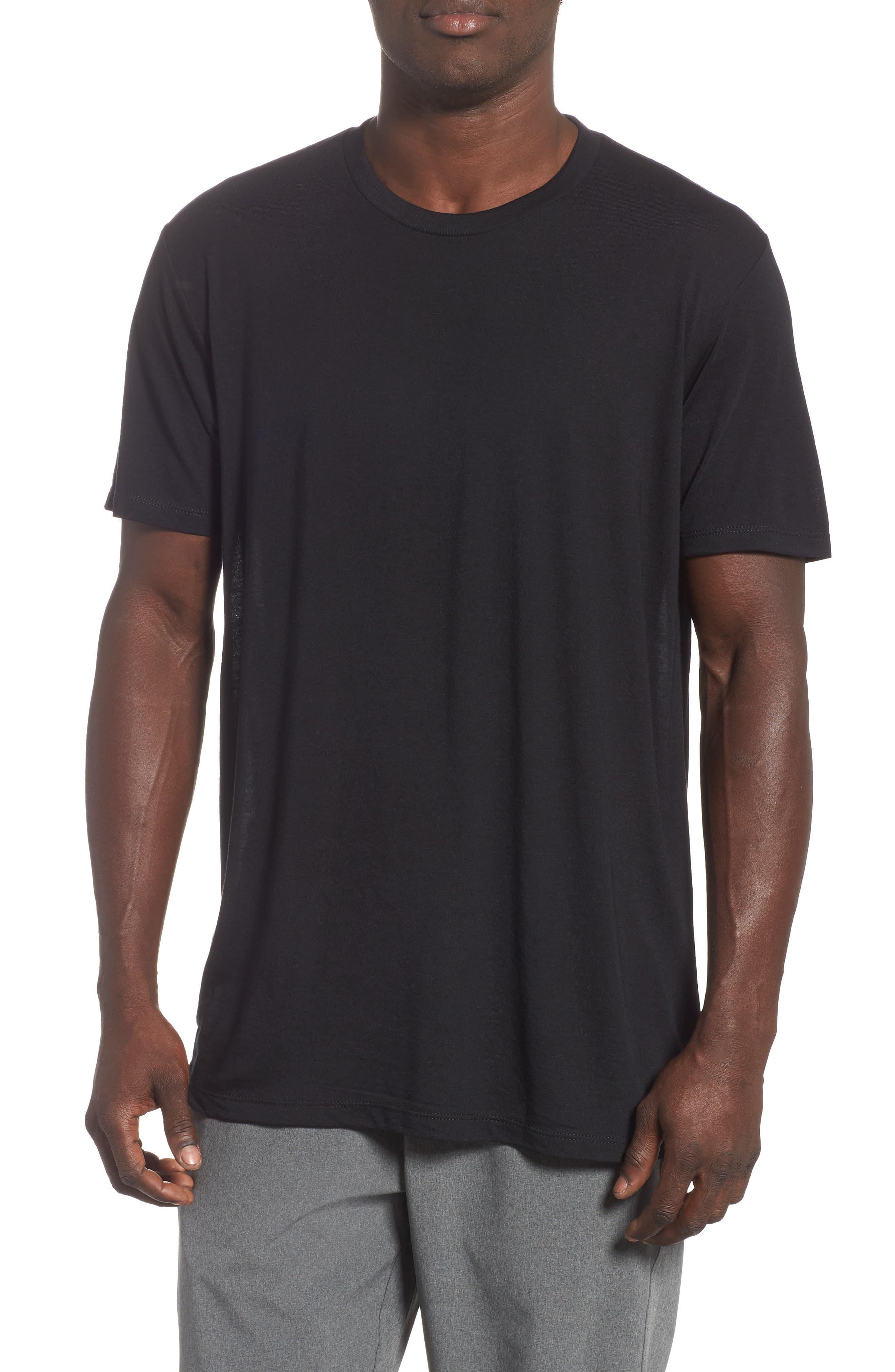 Active Crewneck T-Shirt,                         Main,                         color, BLACK